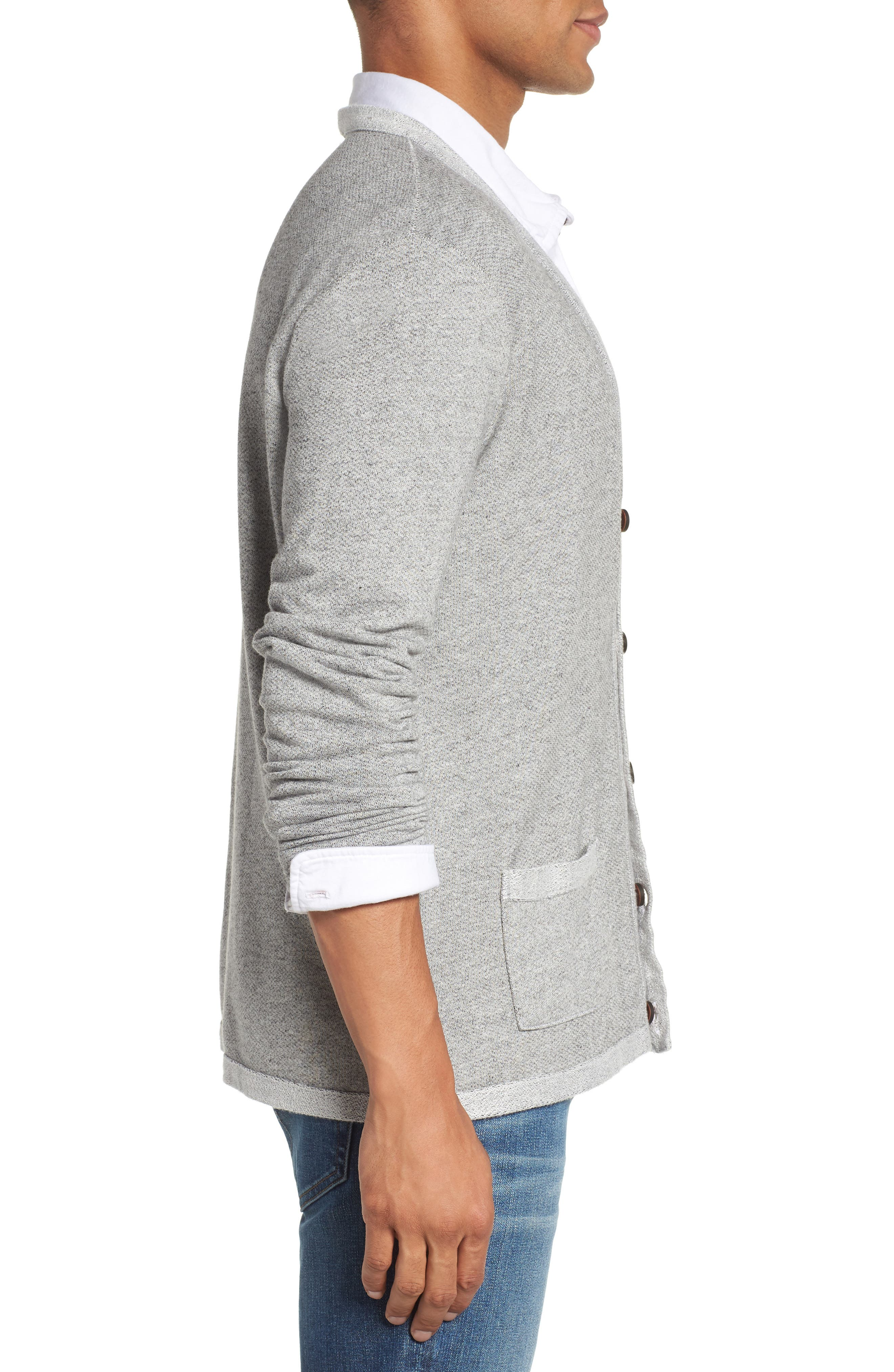Cardigan,                             Alternate thumbnail 3, color,                             Heather Grey