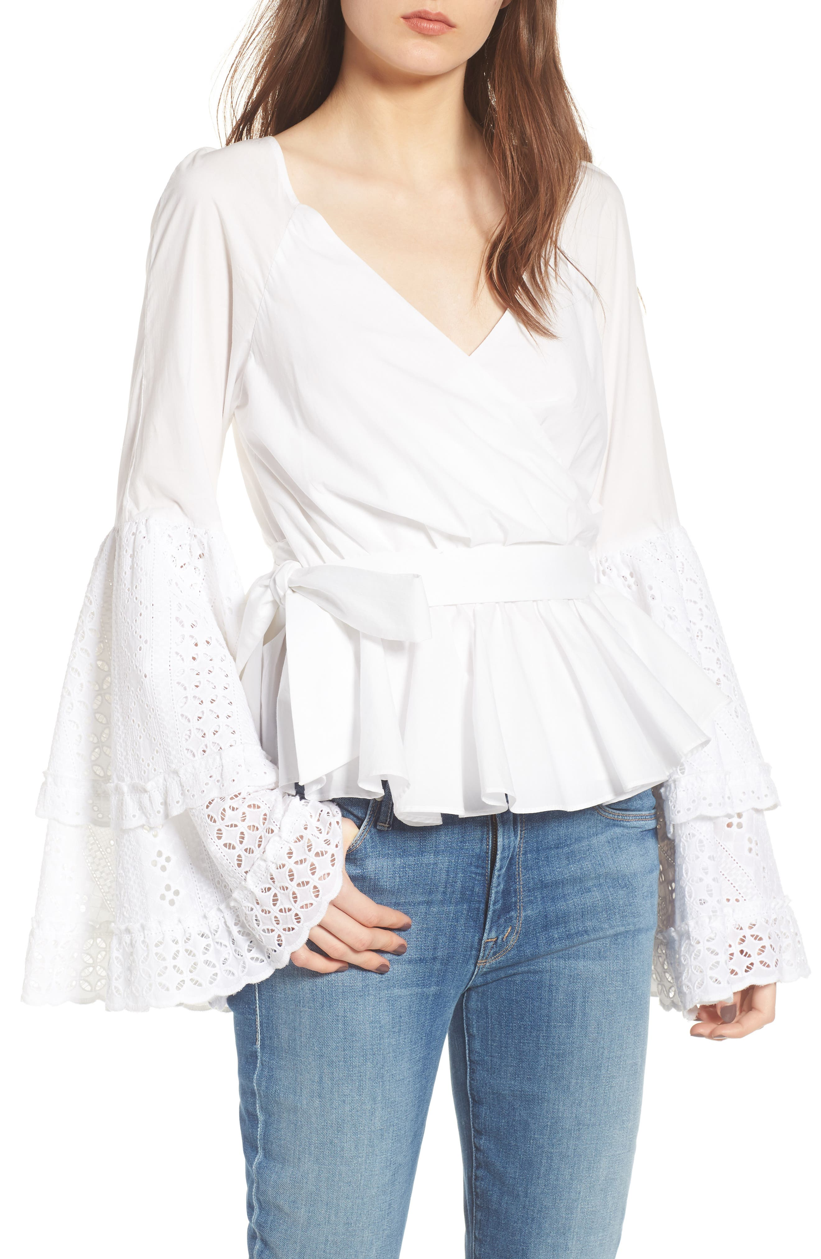 Melly Top,                             Main thumbnail 1, color,                             White