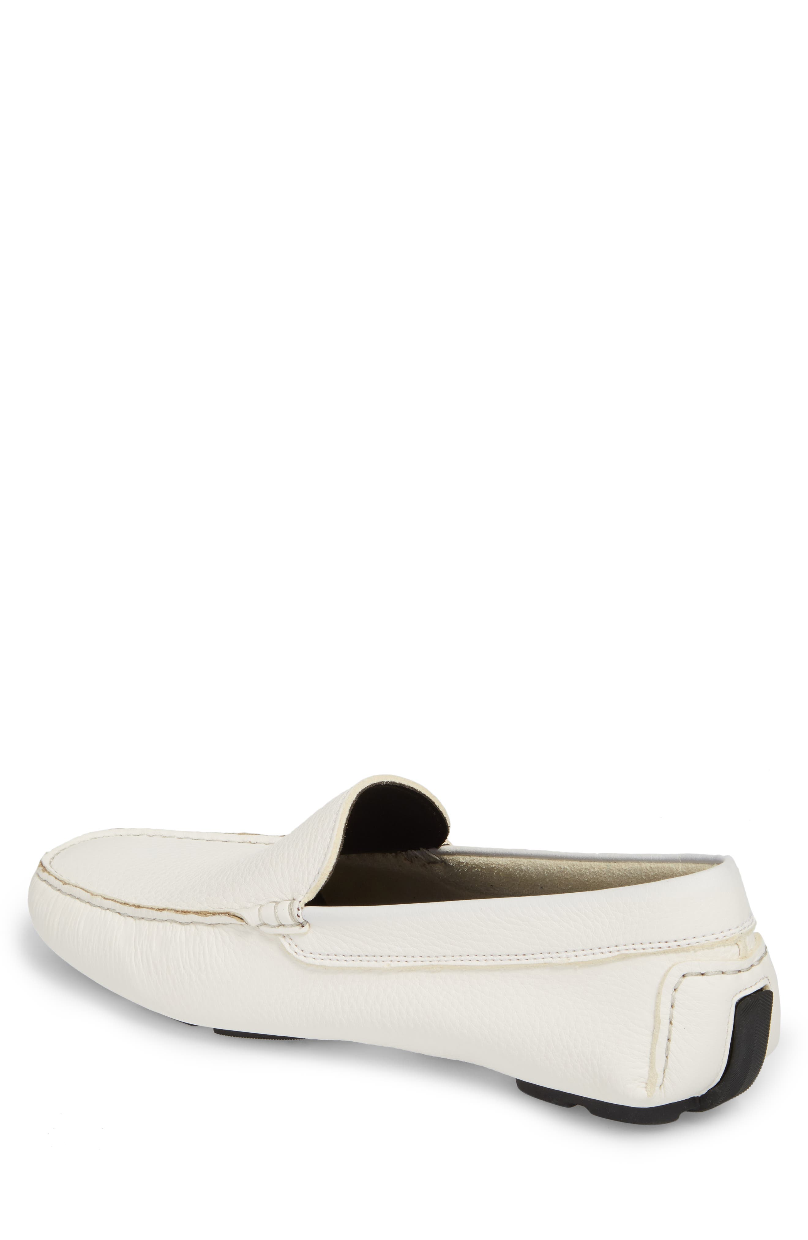 Harlan Driving Loafer,                             Alternate thumbnail 2, color,                             White Leather