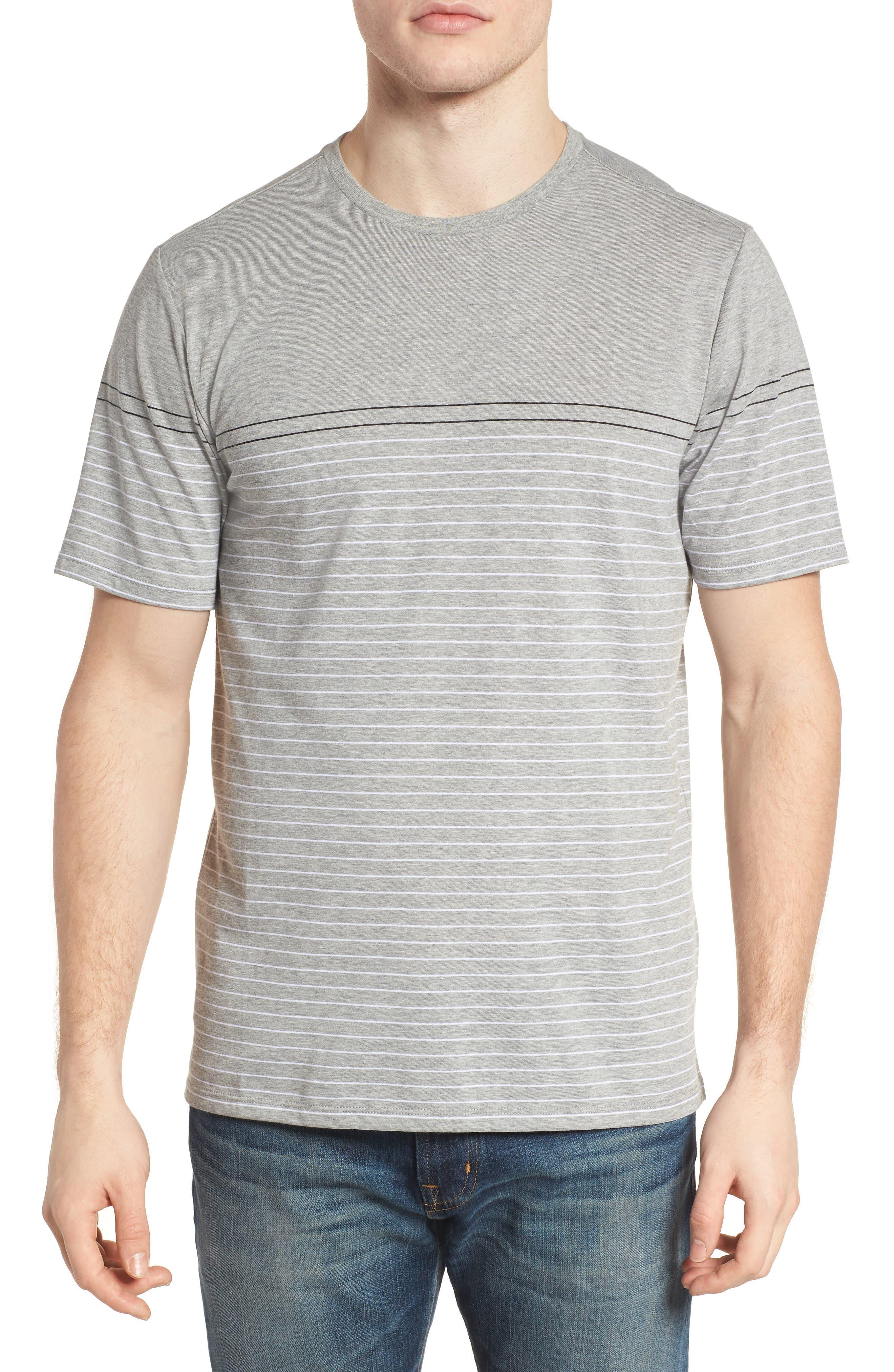 Dry Doheny Stripe T-Shirt,                             Main thumbnail 1, color,                             Dark Heather Grey