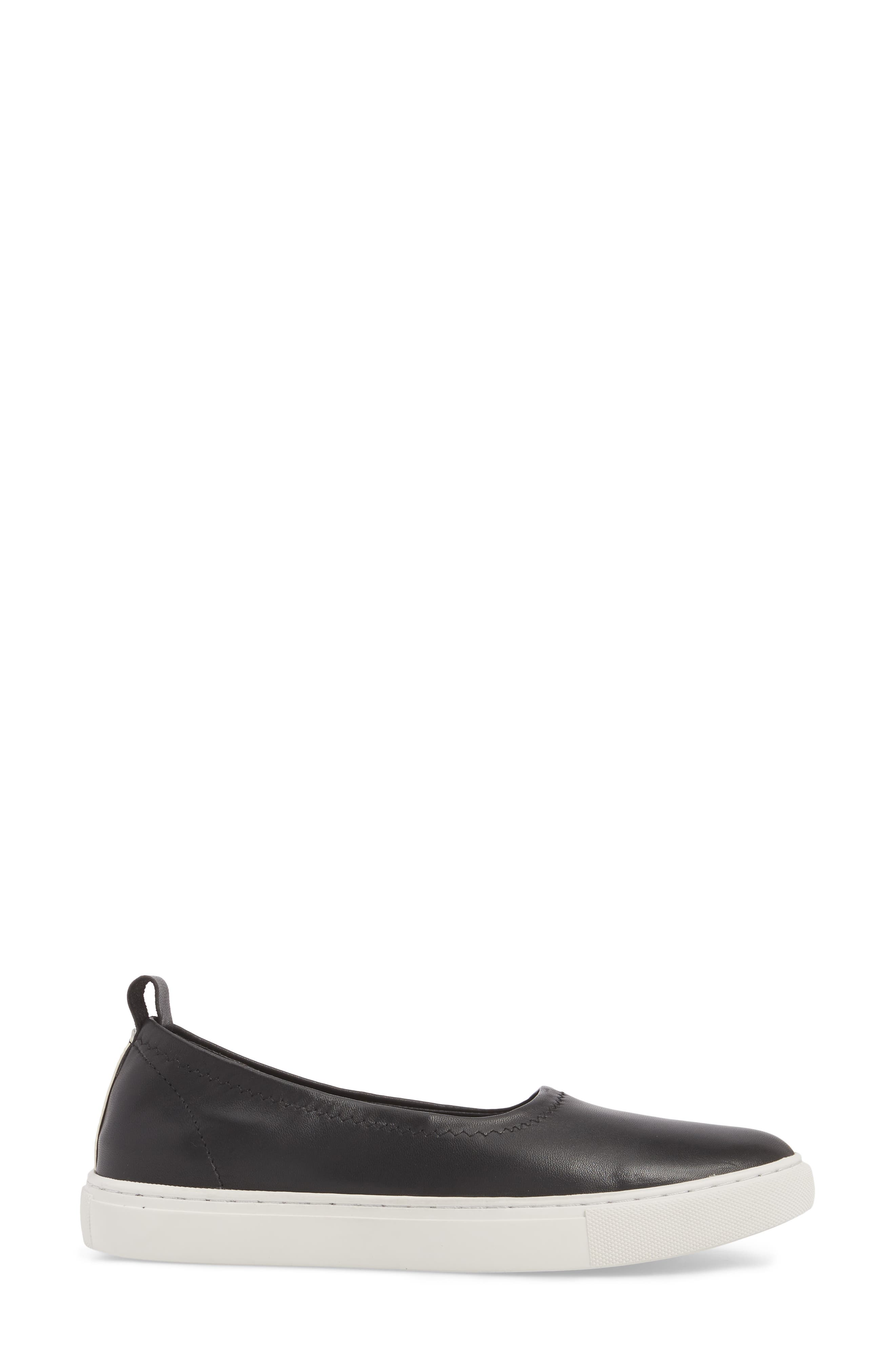 Kam Techni-Cole Ballet Flat,                             Alternate thumbnail 3, color,                             Black Leather