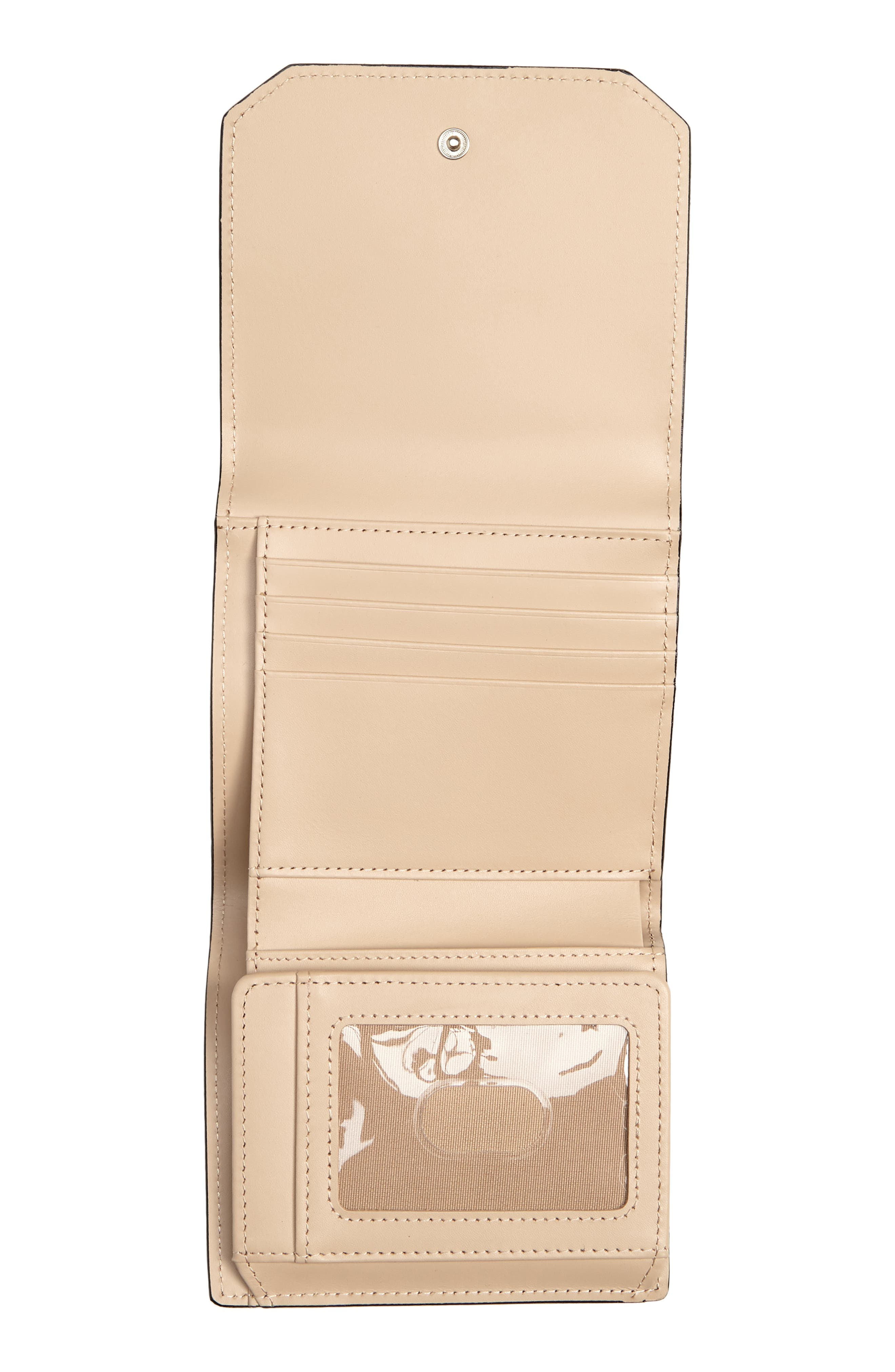 Trifold Leather Envelope Wallet,                             Alternate thumbnail 2, color,                             Black