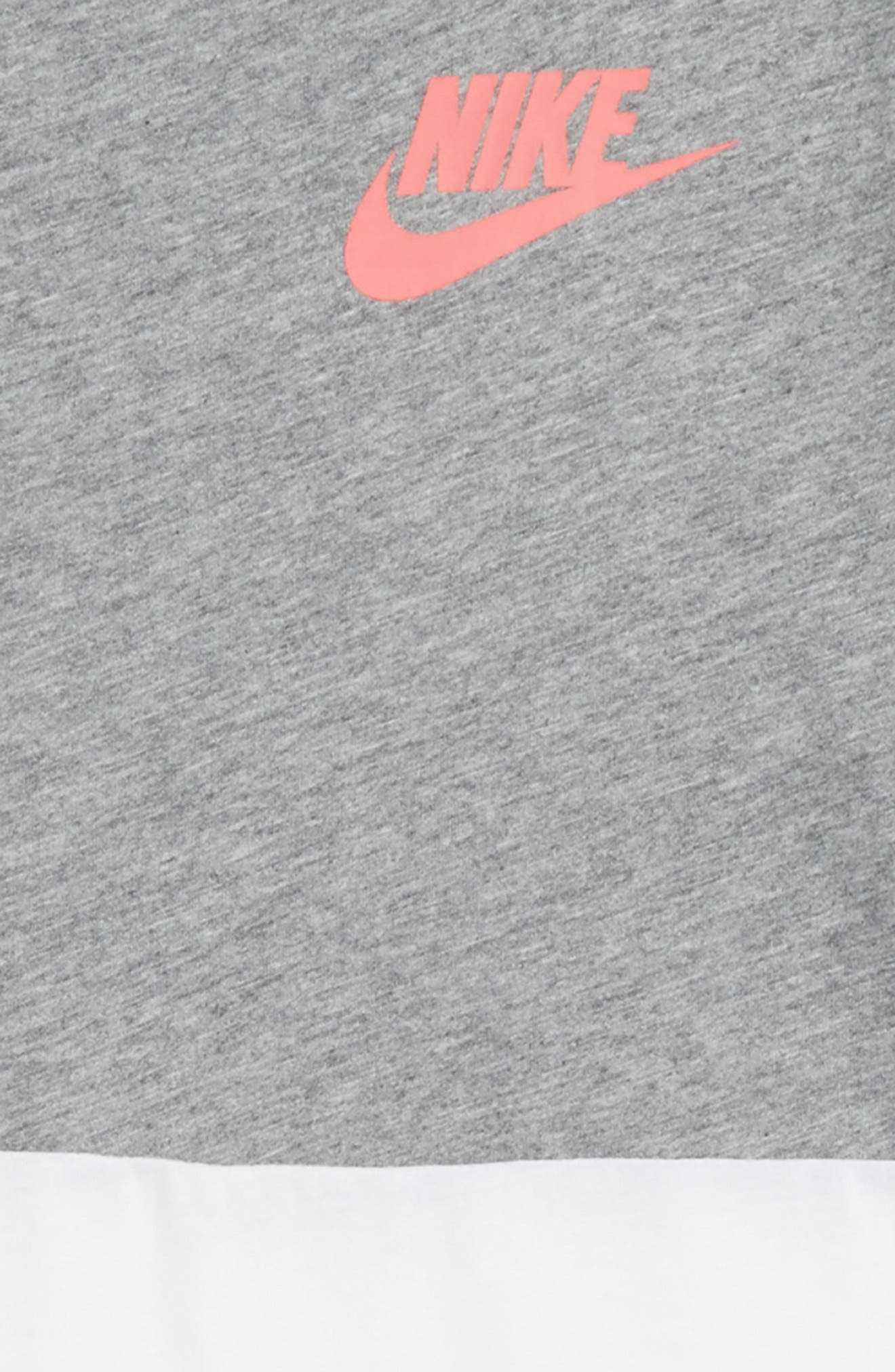 Sportswear Graphic Tee,                             Alternate thumbnail 2, color,                             Carbon Heather/ White/ Coral
