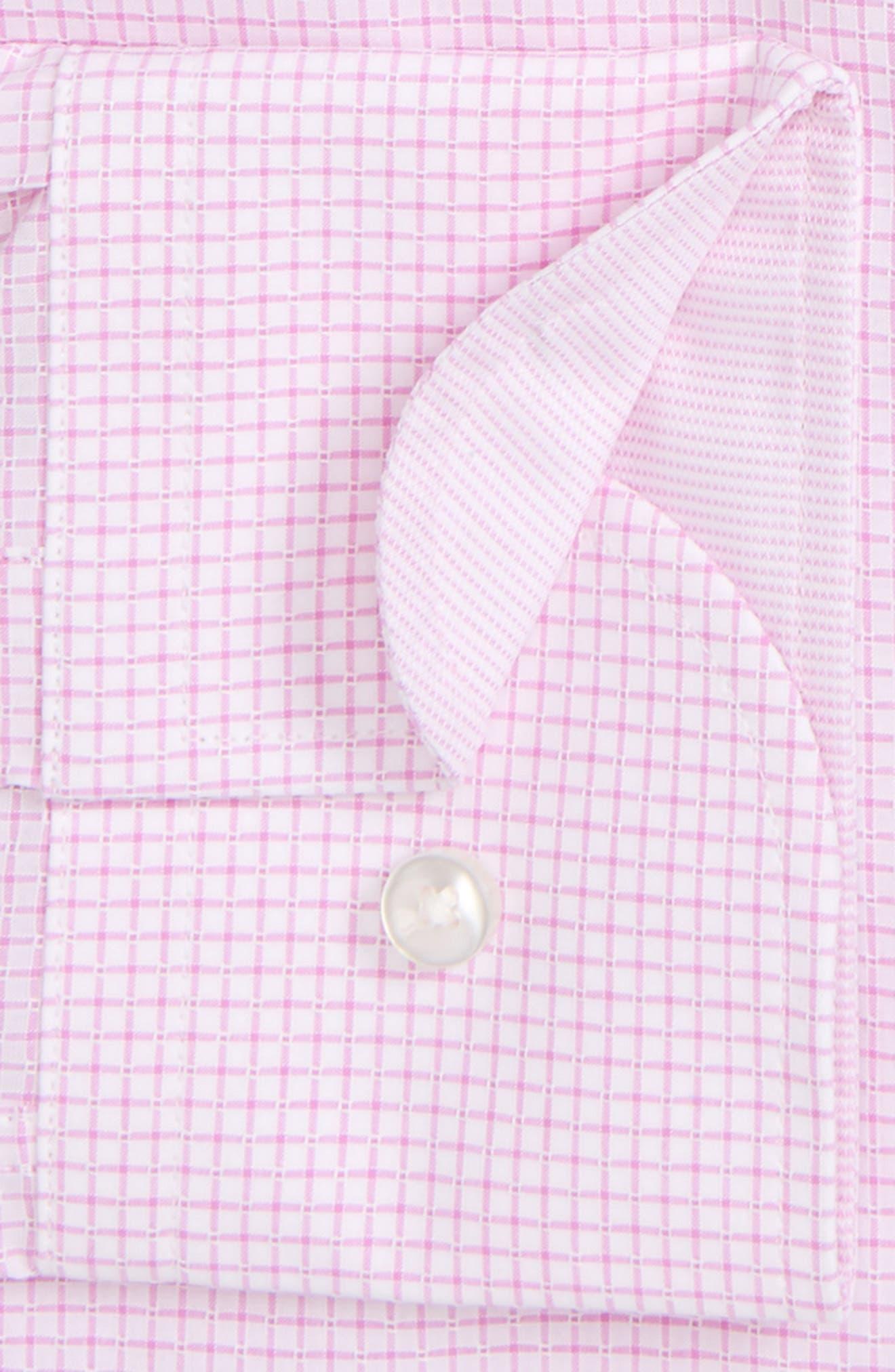 Jesse Slim Fit Check Dress Shirt,                             Alternate thumbnail 5, color,                             Pink