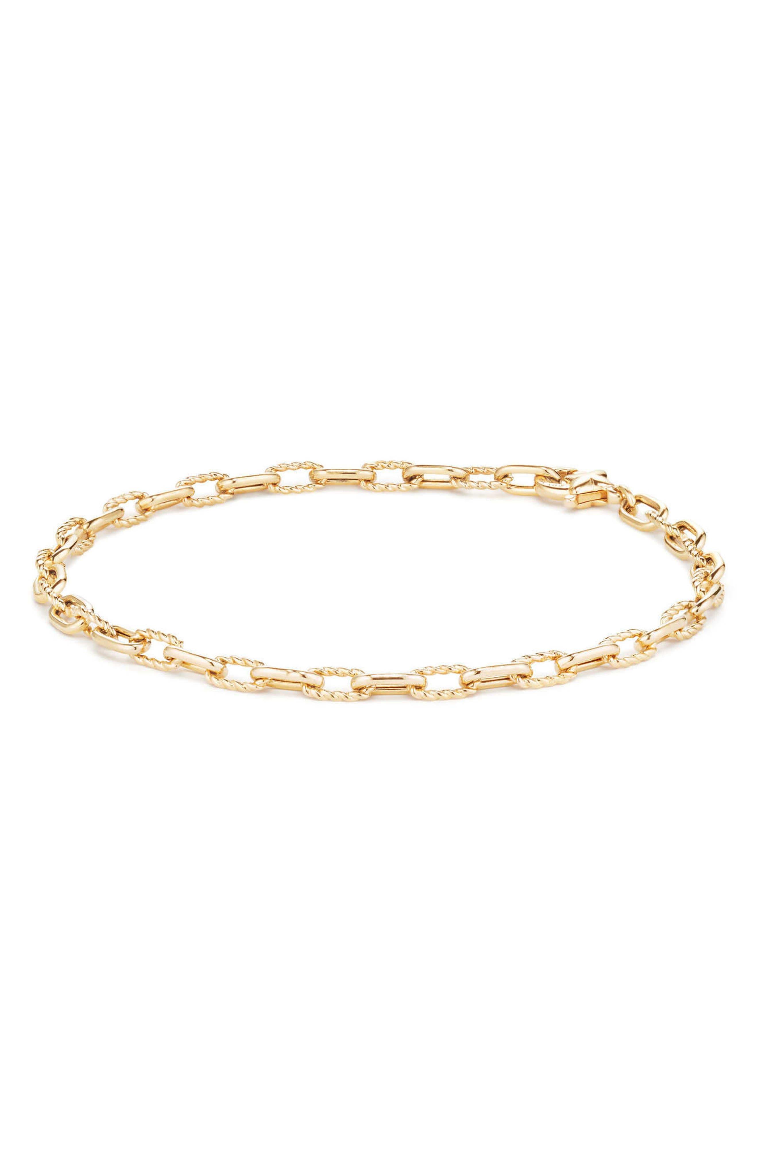 David Yurman DY Madison Thin Bracelet in 18K Gold