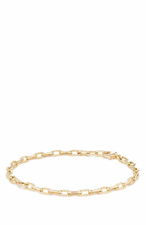 David Yurman Dy Madison Thin Bracelet In 18k Gold