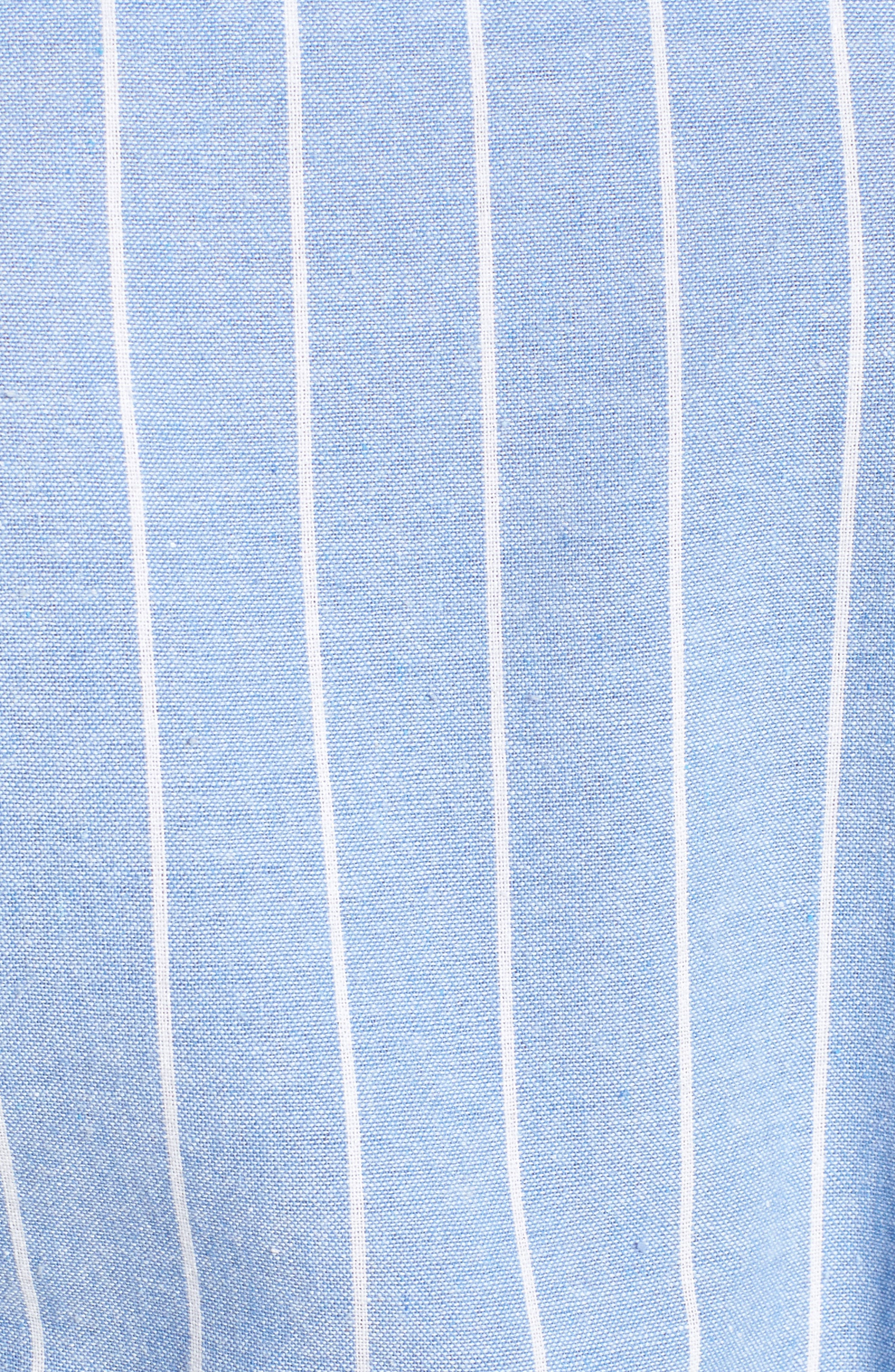 Bishop + Young Chrissy Cold Shoulder Dress,                             Alternate thumbnail 5, color,                             Blue White Stripe