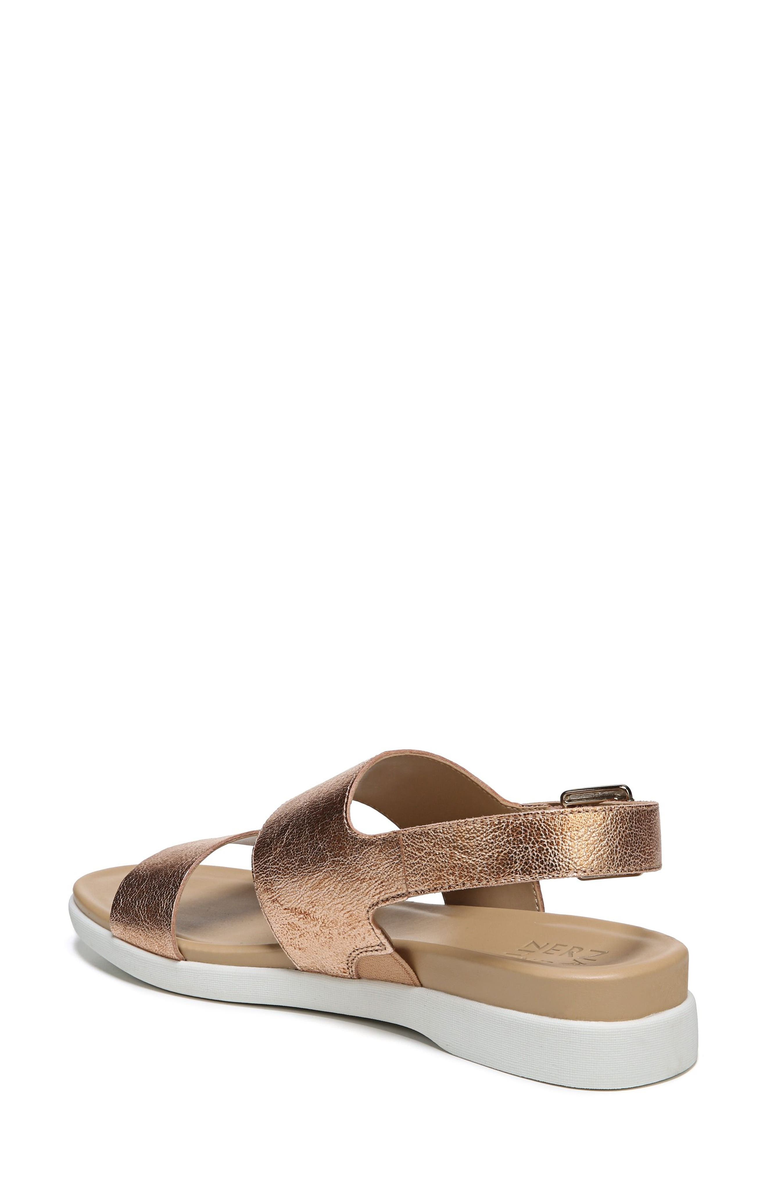 Emory Wedge Sandal,                             Alternate thumbnail 2, color,                             Copper Leather