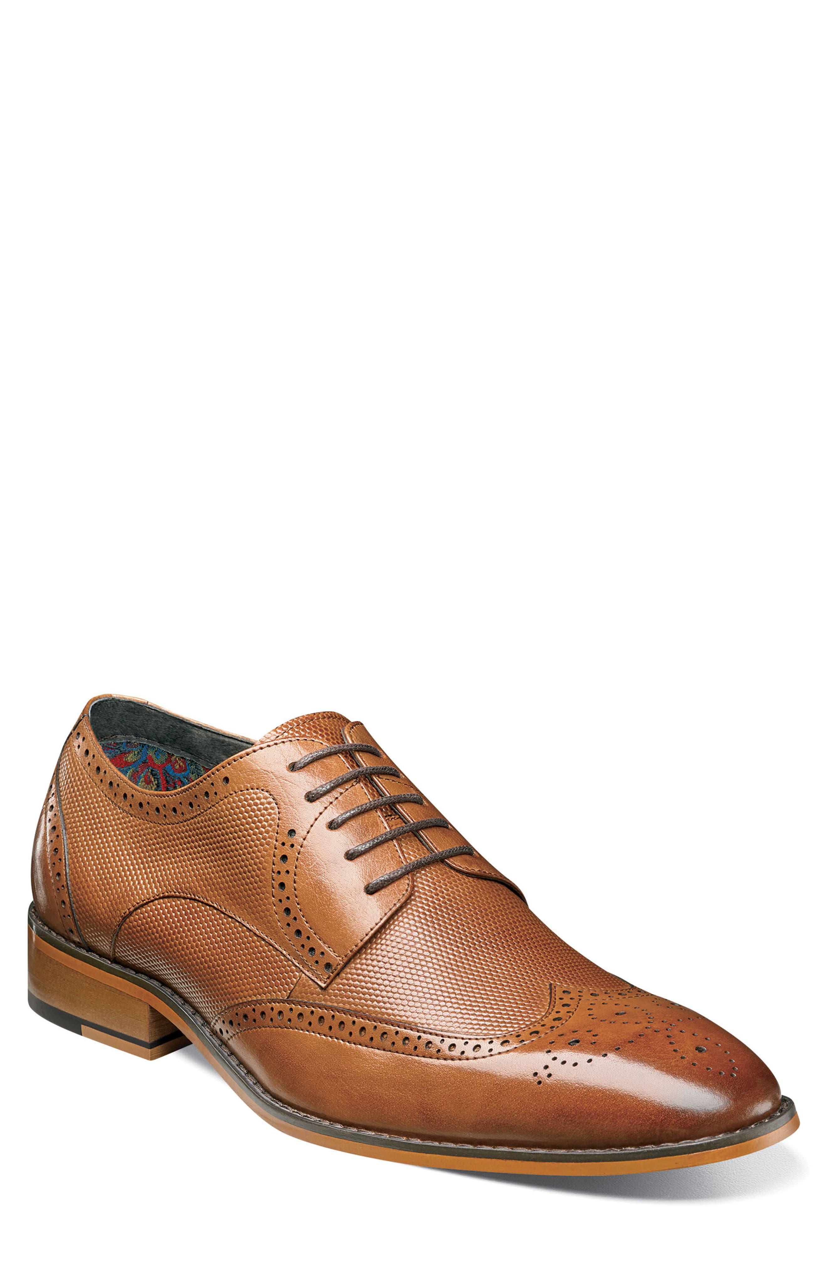 Lindell Wingtip,                             Main thumbnail 1, color,                             Saddle Tan Leather