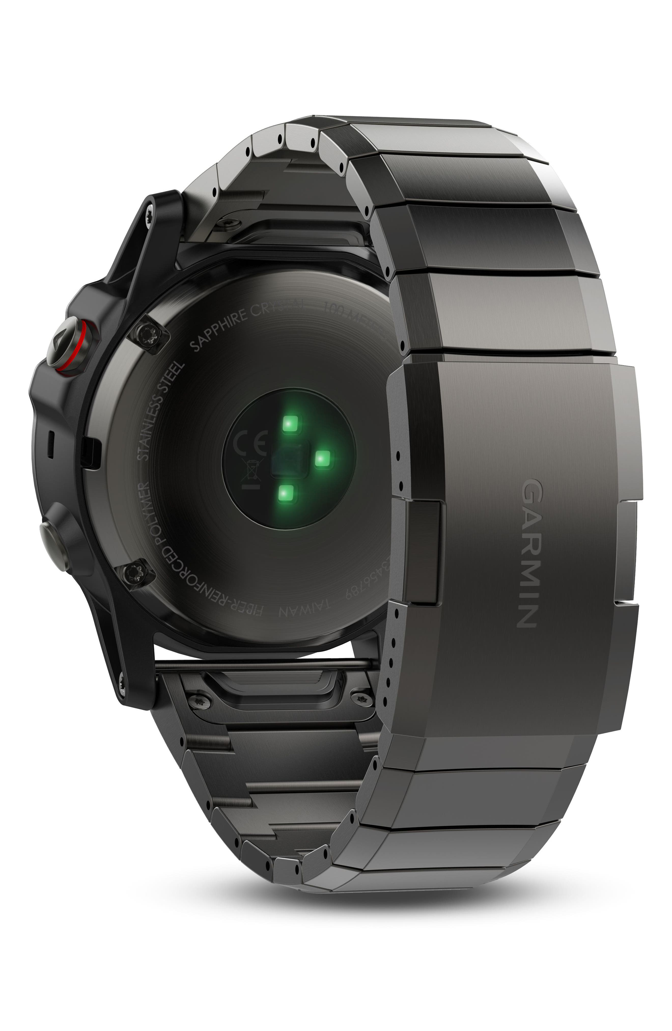 Alternate Image 4  - Garmin fenix® 5X Sapphire Premium Multisport GPS Watch, 51mm