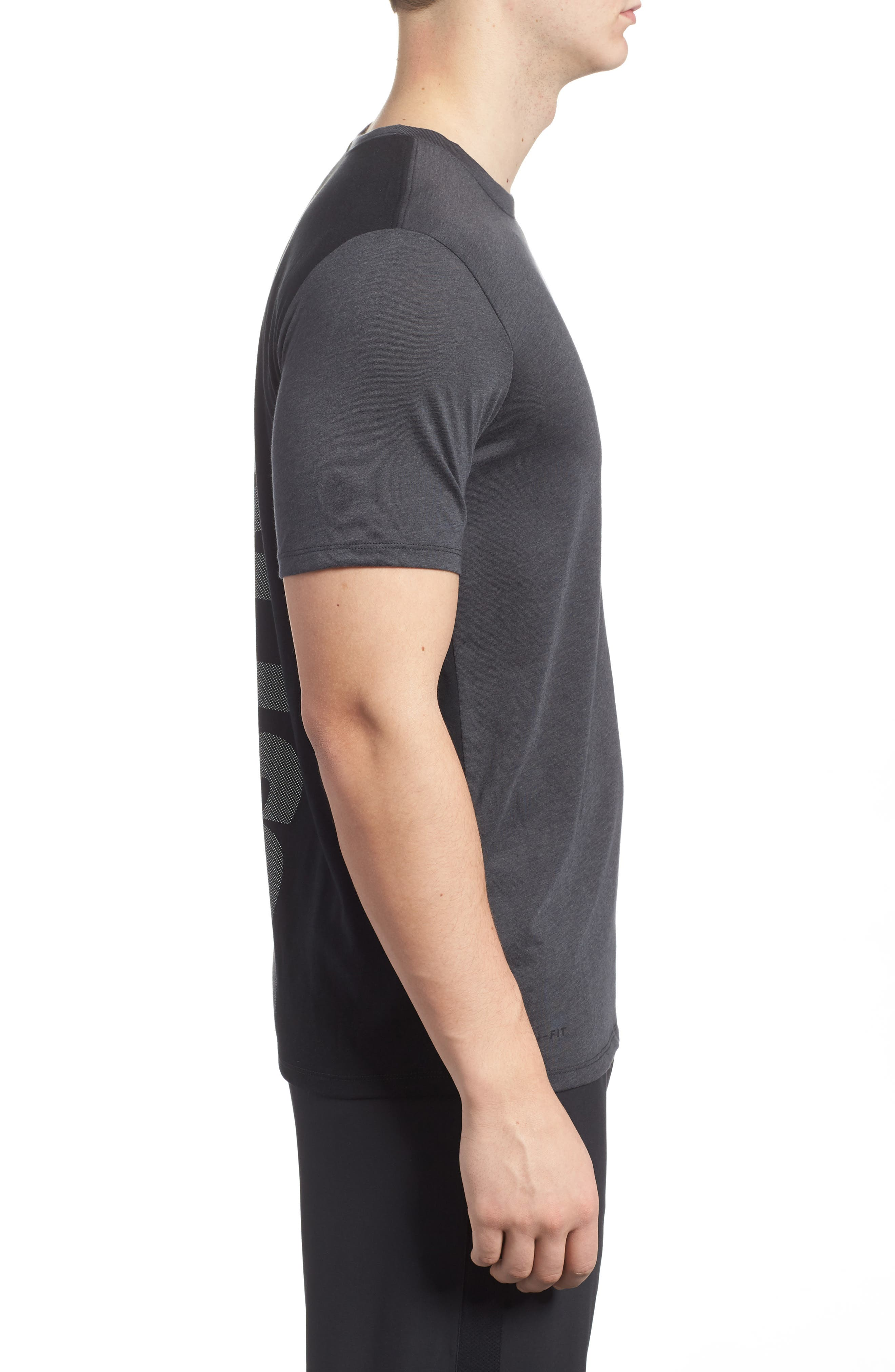 Training Dry Project X T-Shirt,                             Alternate thumbnail 3, color,                             Anthracite/ Black