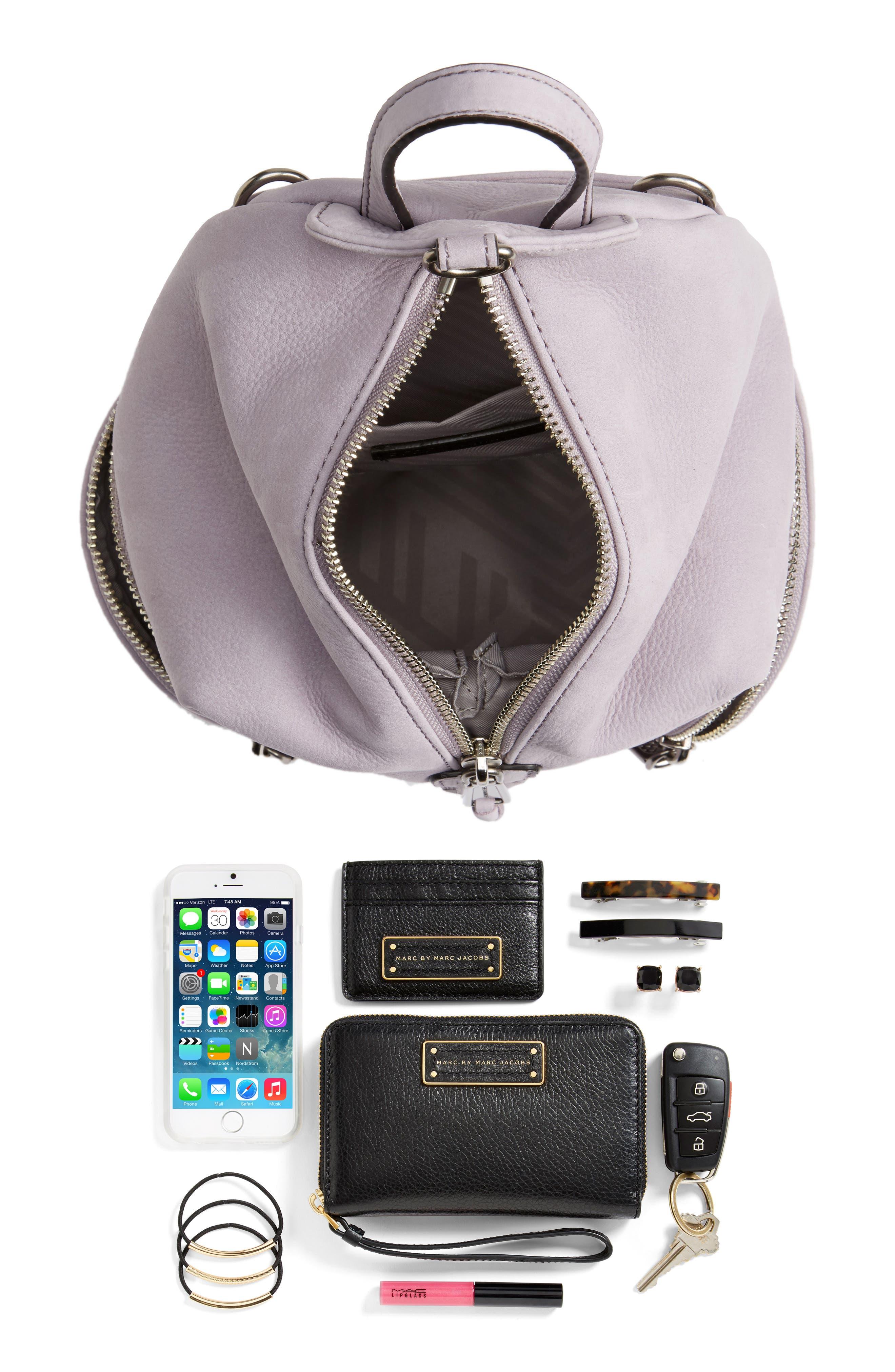 Mini Julian Nubuck Leather Convertible Backpack,                             Alternate thumbnail 7, color,