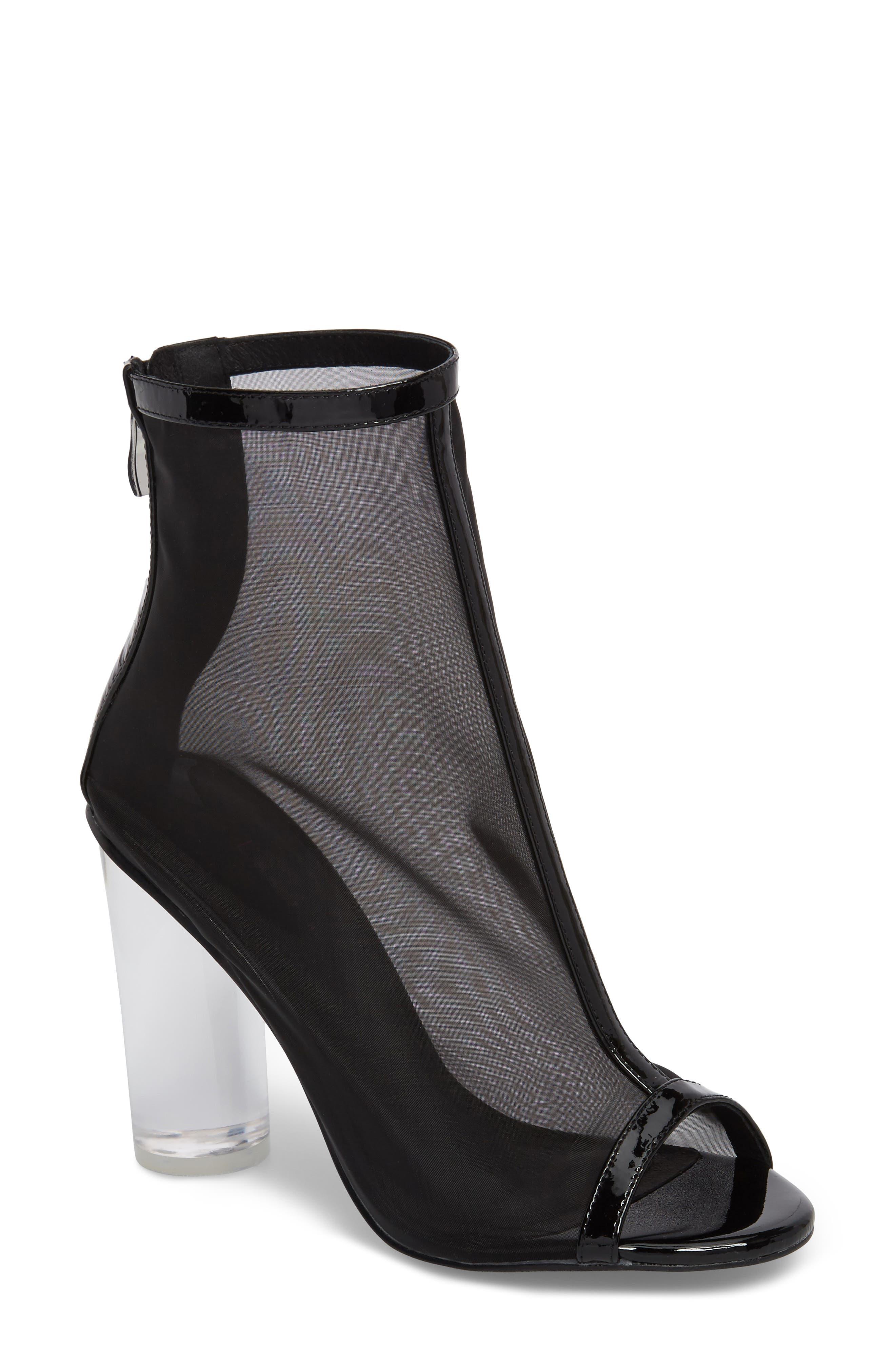 Saber Sandal,                         Main,                         color, Black Mesh
