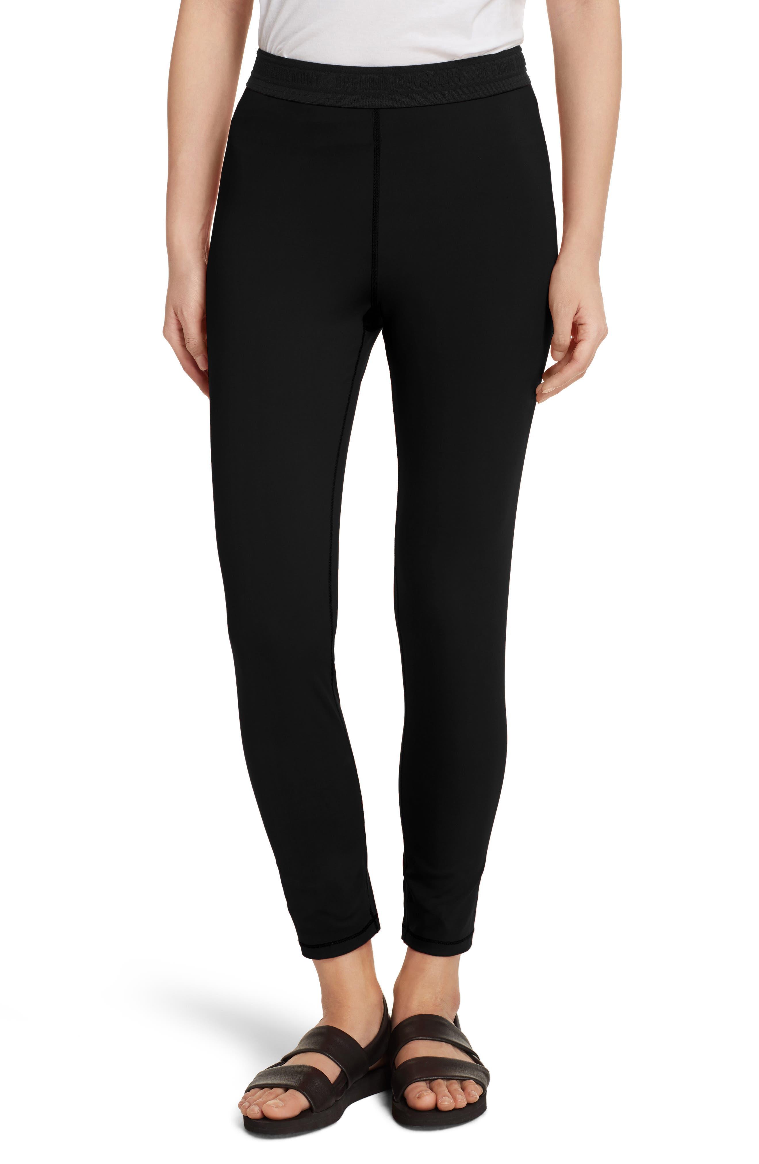 Split Back Leggings,                         Main,                         color, Black