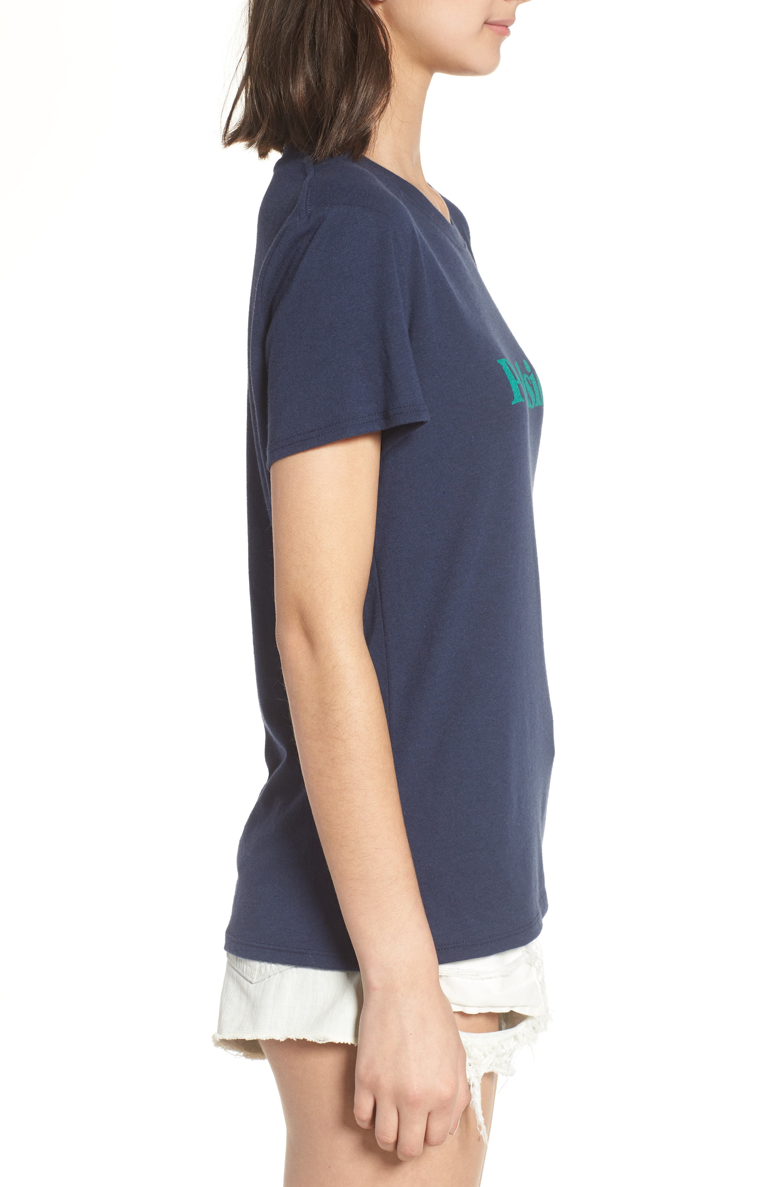 Poolside Graphic Tee,                             Alternate thumbnail 3, color,                             Navy