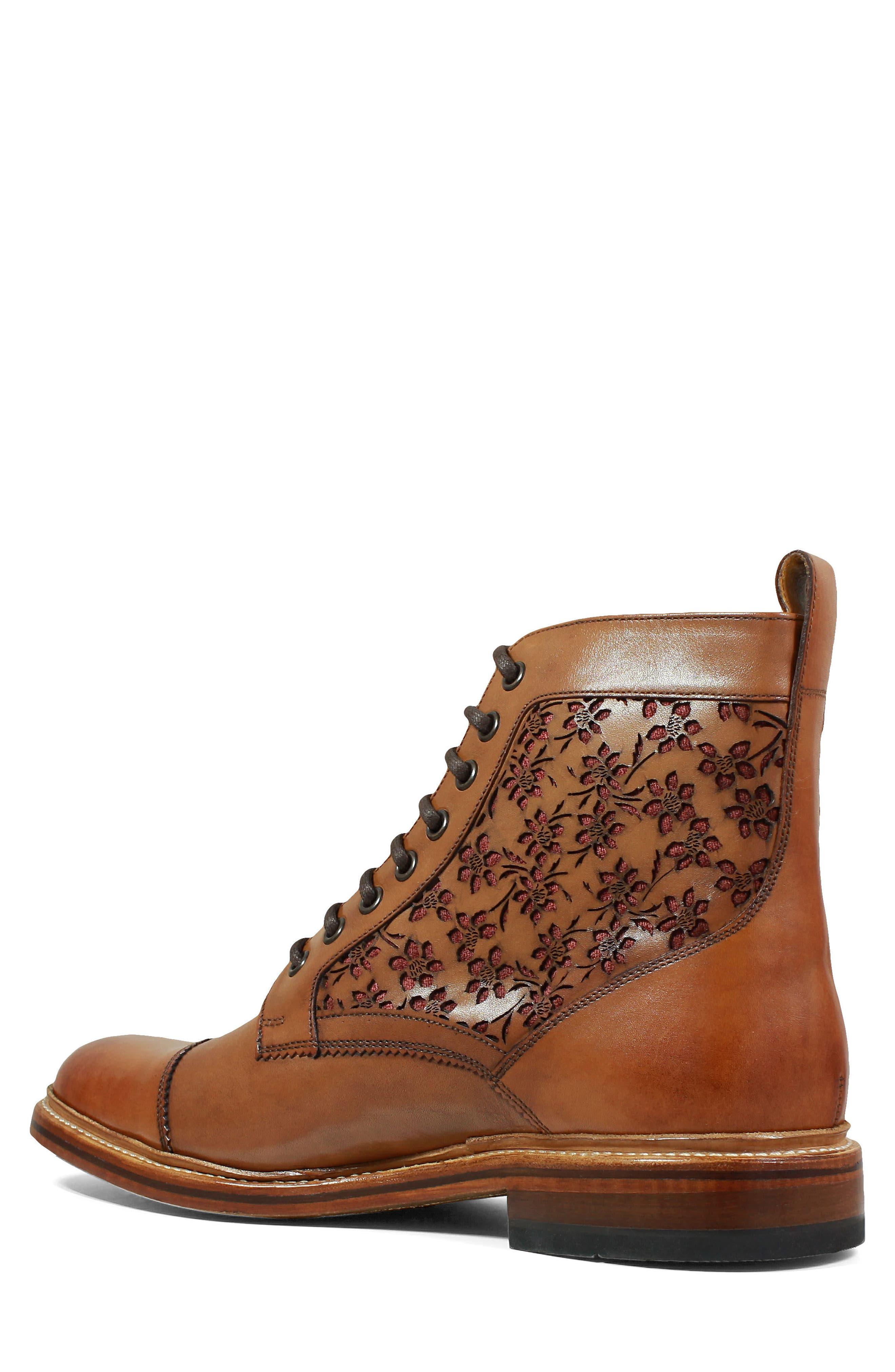 M2 Laser Cut Boot,                             Alternate thumbnail 2, color,                             Cognac Leather