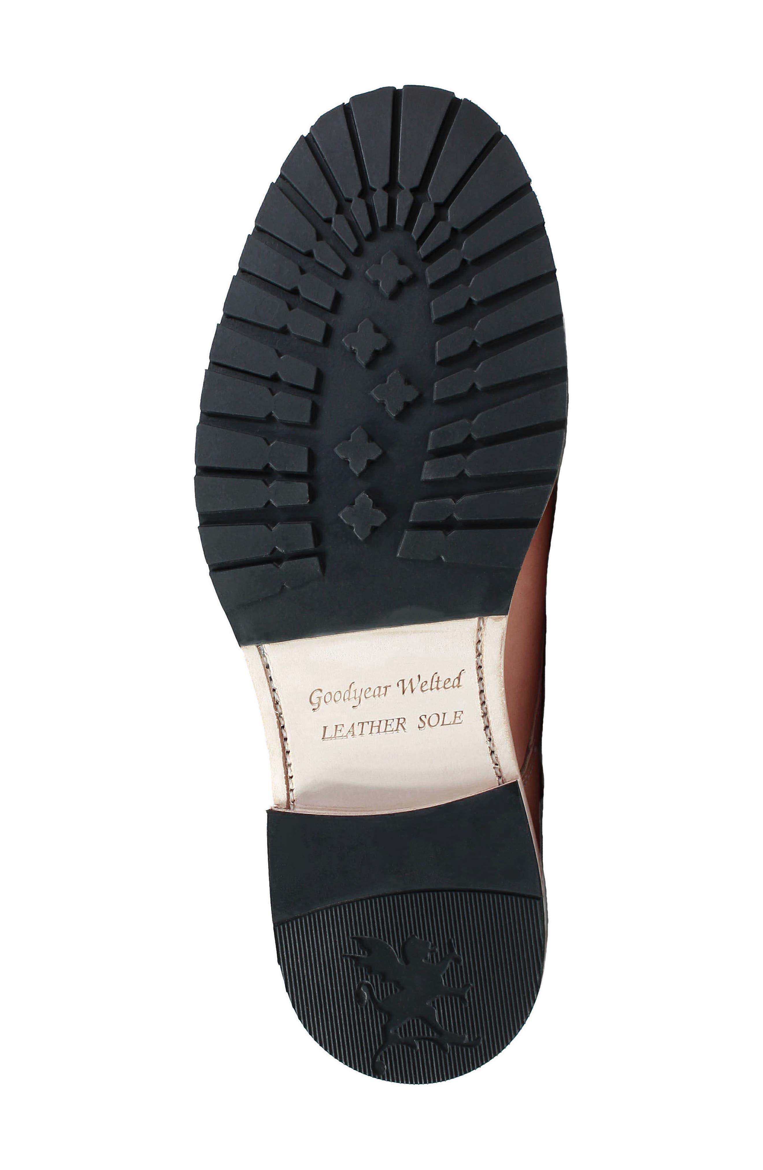 M2 Plain Toe Boot,                             Alternate thumbnail 6, color,                             Natural Leather