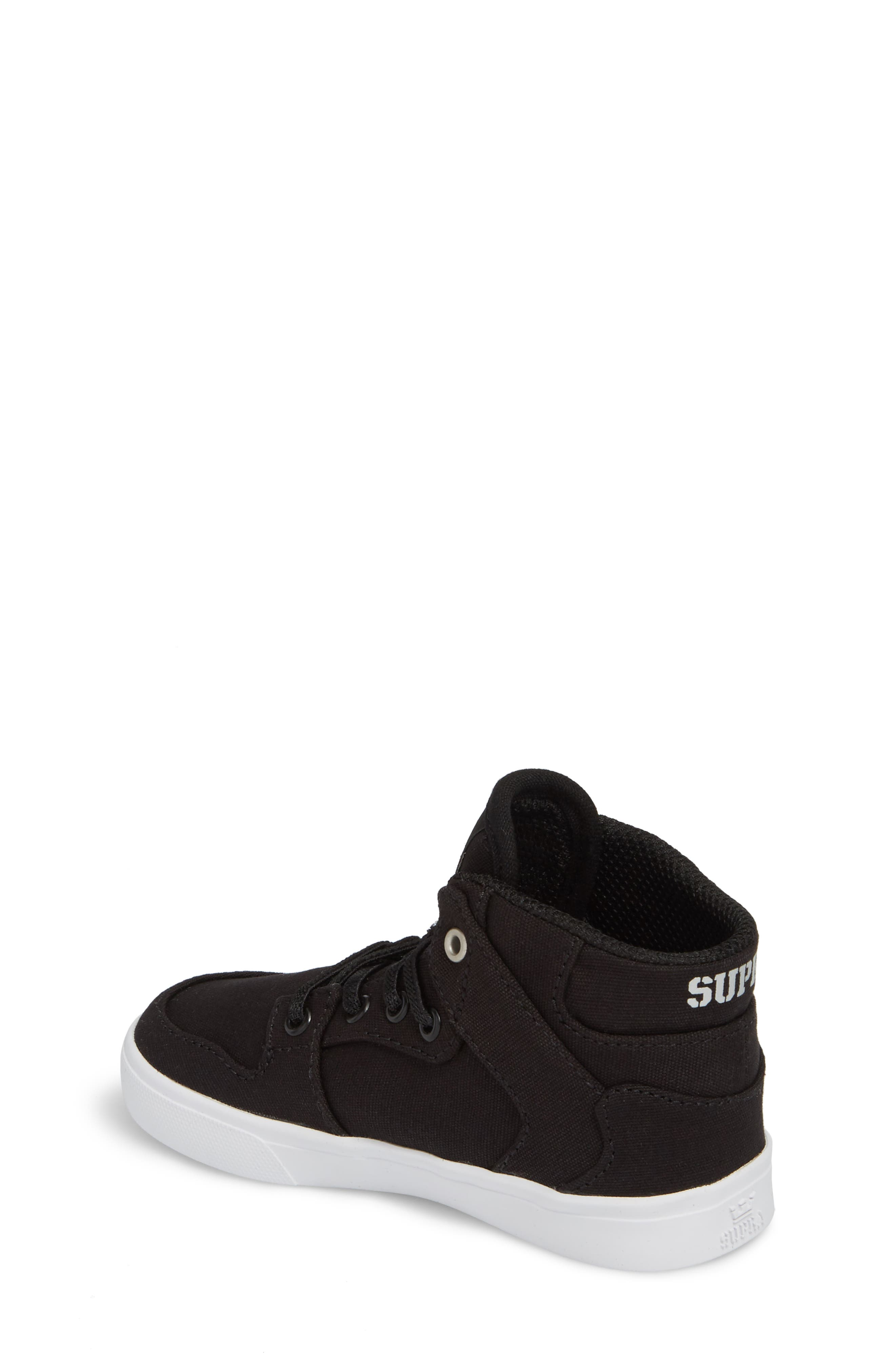 'Vaider' High Top Sneaker,                             Alternate thumbnail 2, color,                             Black/ White