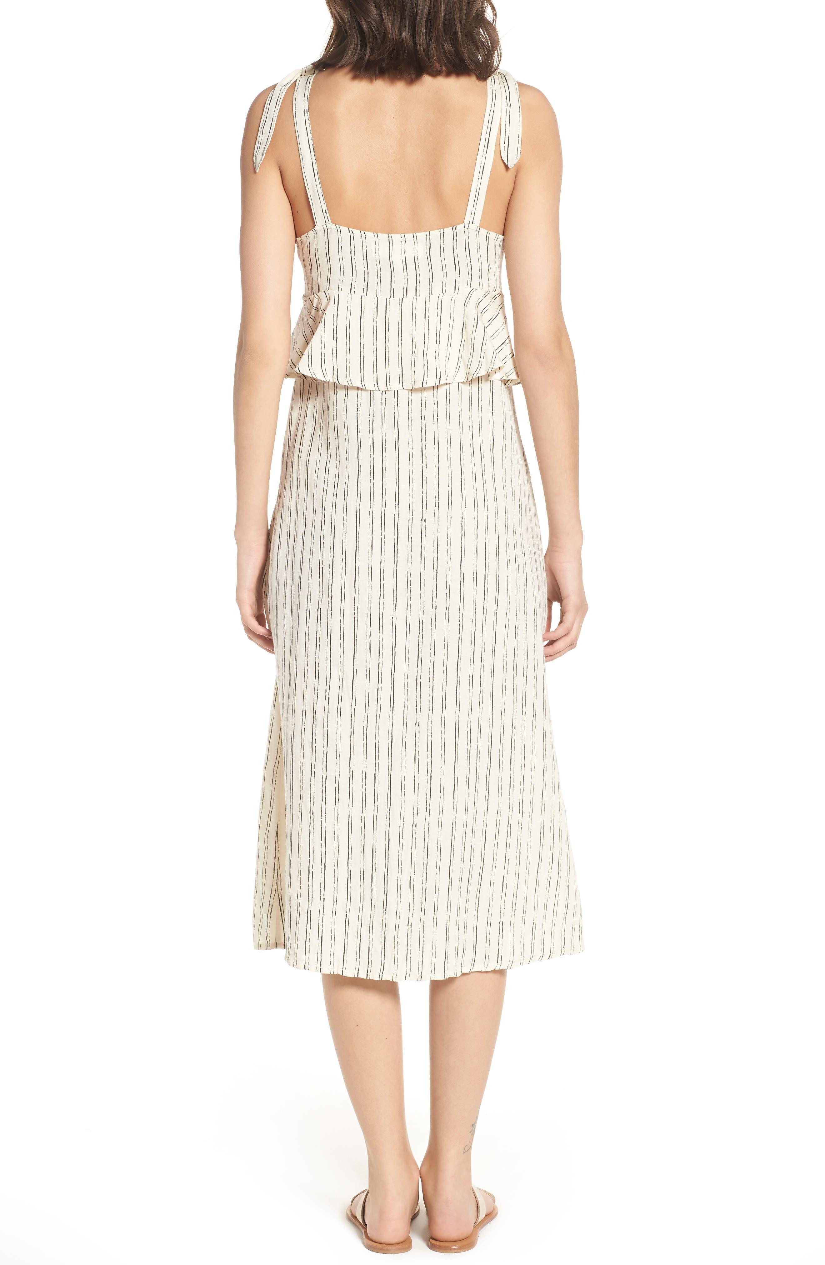 Loosen Up Linen Blend Sundress,                             Alternate thumbnail 2, color,                             White Cap