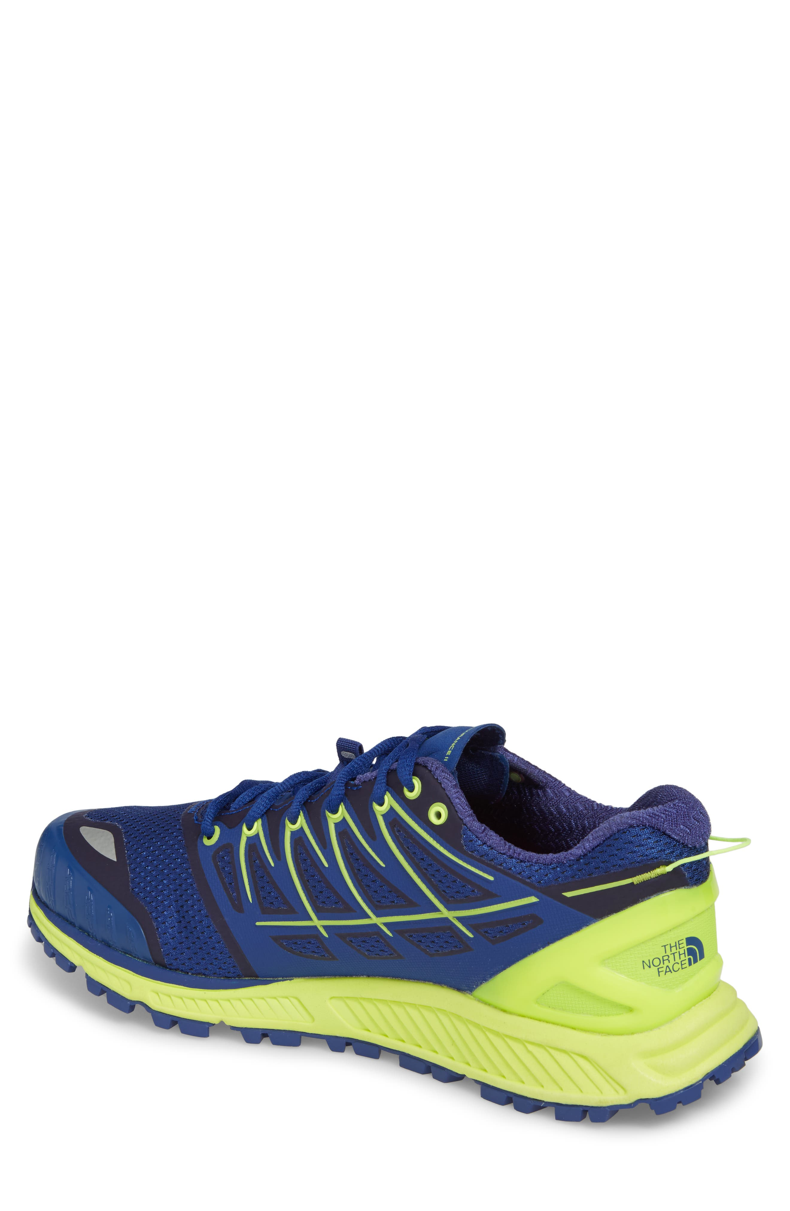 Ultra Endurance II Trail Running Shoe,                             Alternate thumbnail 2, color,                             Brit Blue/ Dayglo Yellow