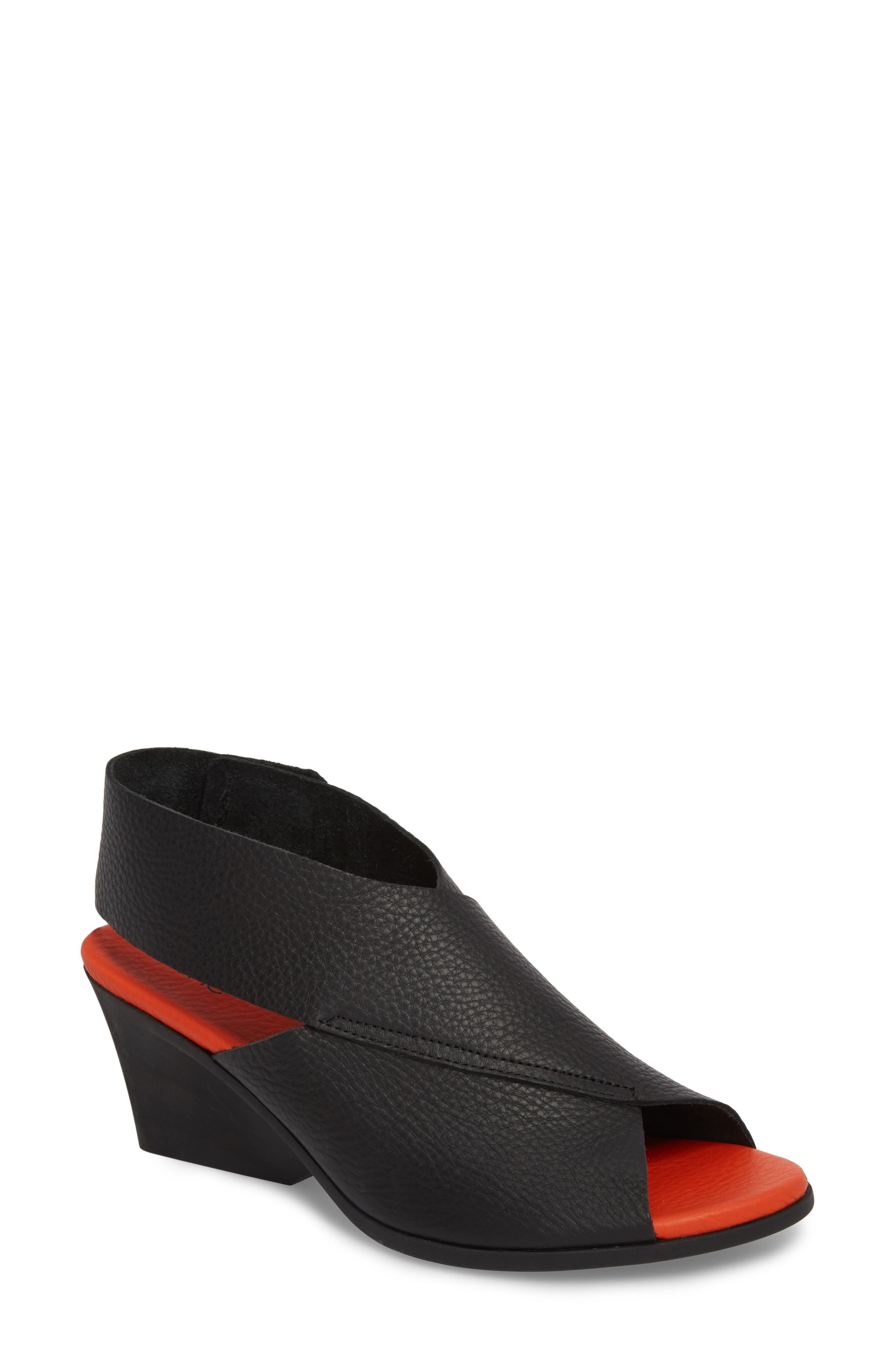 Ritual Wedge Sandal,                             Main thumbnail 1, color,                             Noir/ Paradis Leather