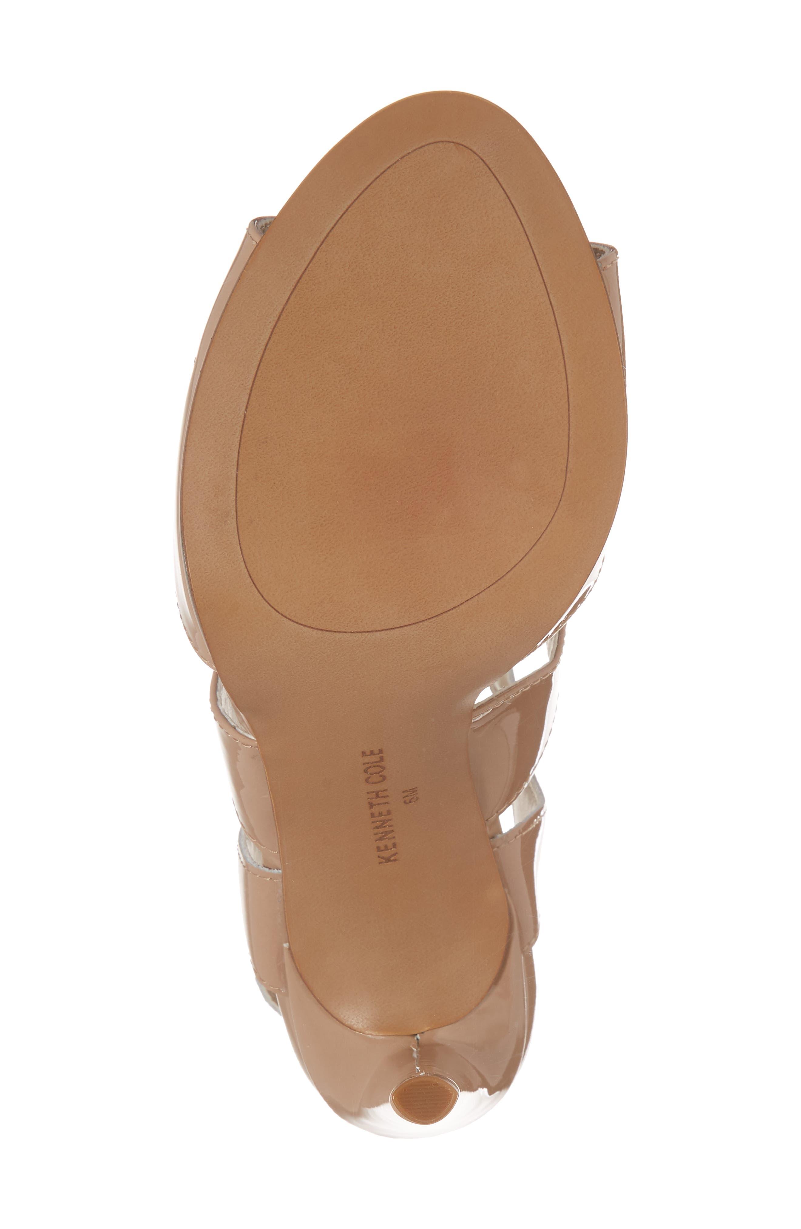Baldwin Sandal,                             Alternate thumbnail 6, color,                             Nude Patent Leather