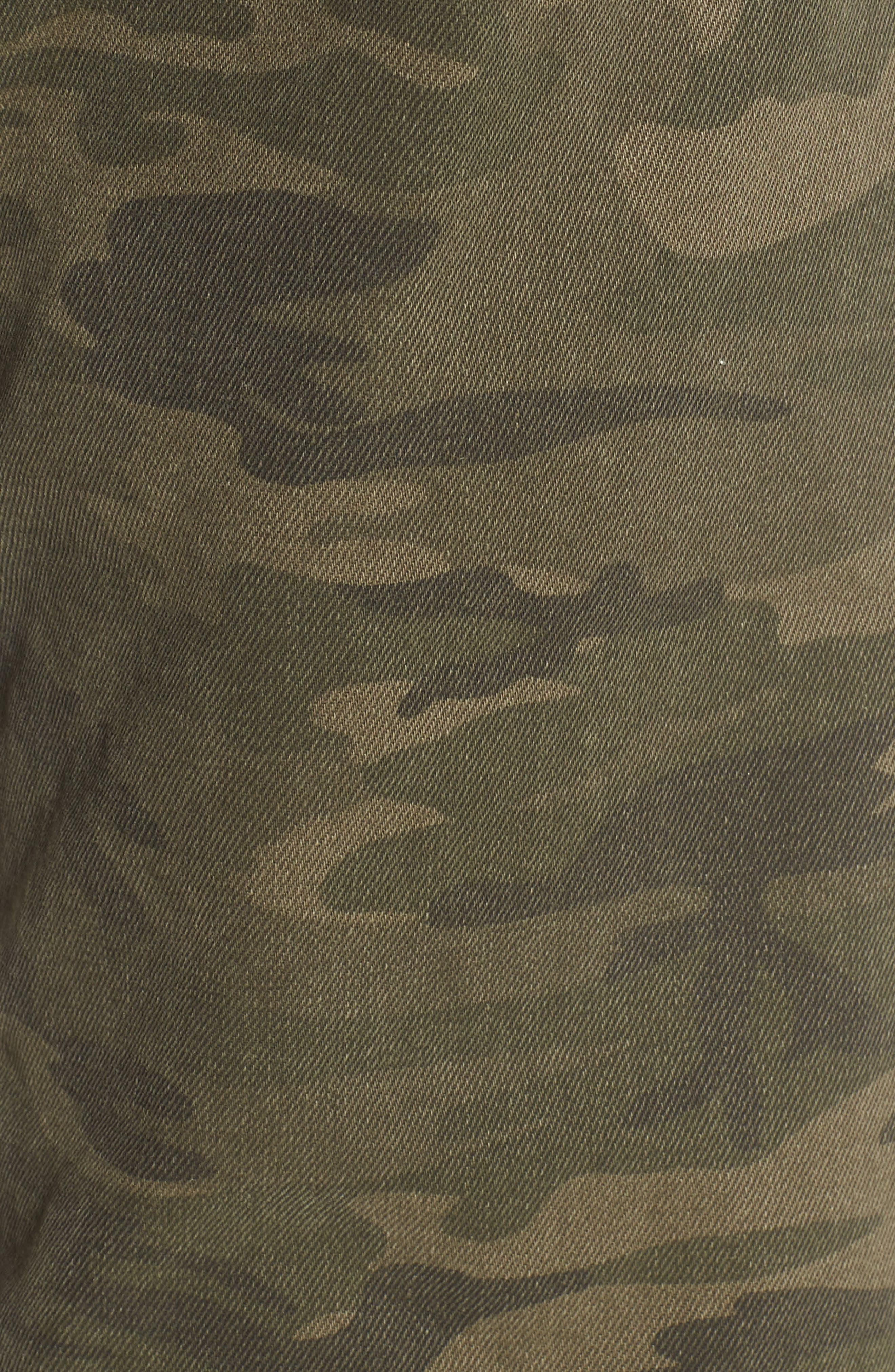 Camo Wide Leg Trousers,                             Alternate thumbnail 6, color,                             Olive