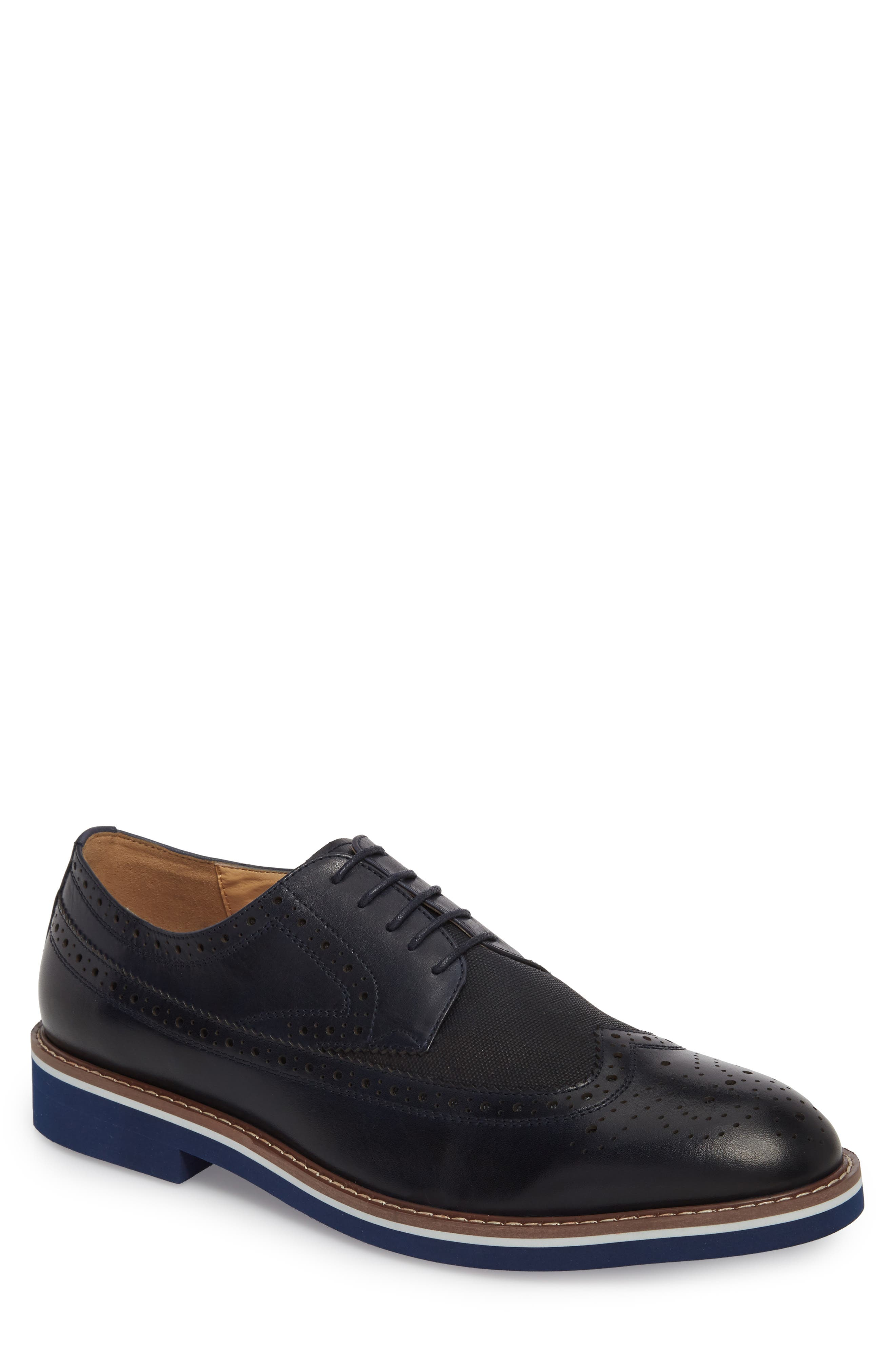 ENGLISH LAUNDRY Balham Wingtip in Navy Leather