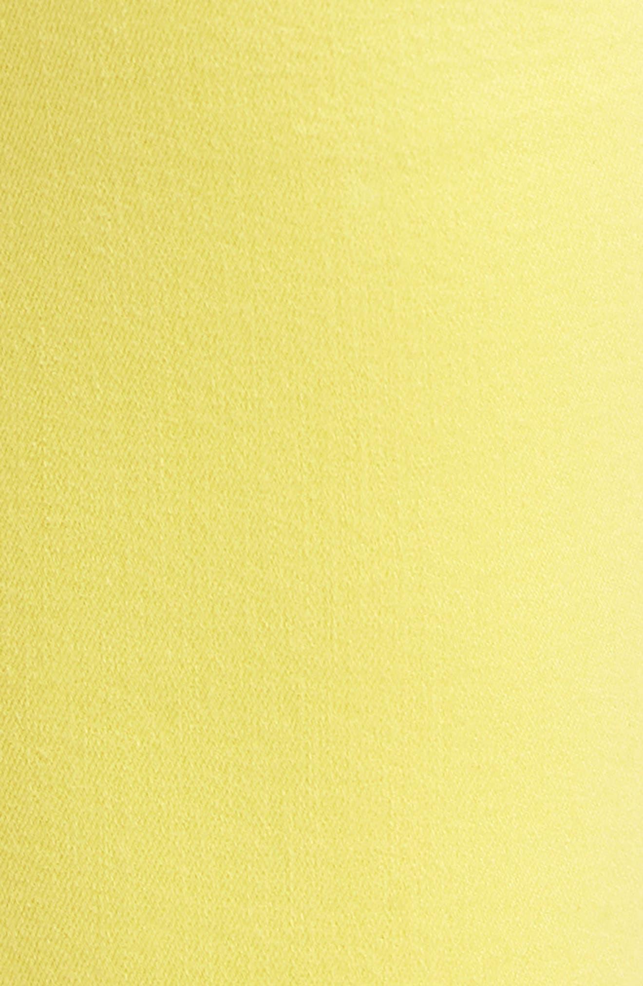 Released Hem Ankle Skinny Jeans,                             Alternate thumbnail 6, color,                             Vivid Yellow