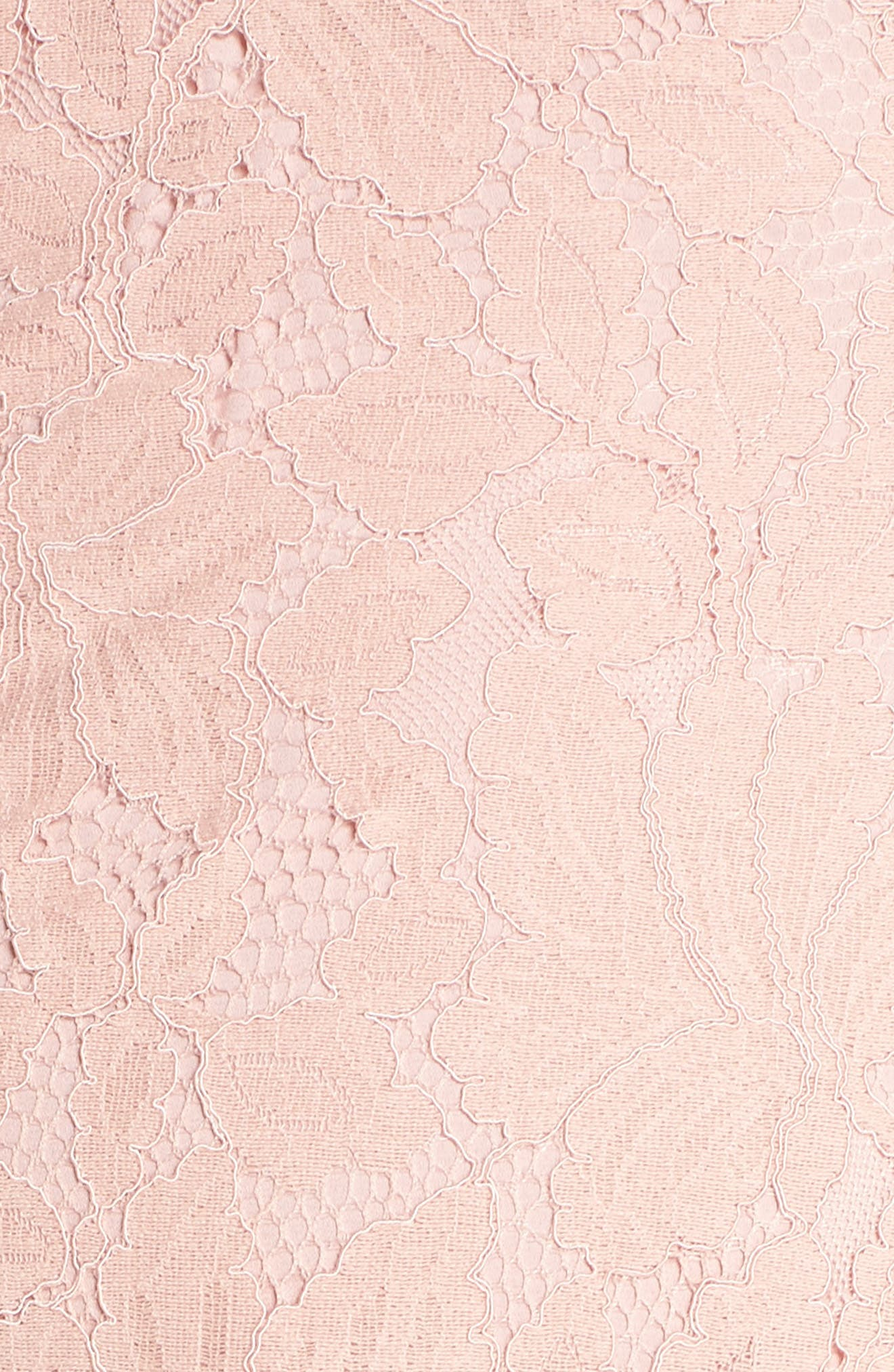Strapless Lace High/Low Dress,                             Alternate thumbnail 6, color,                             Peach