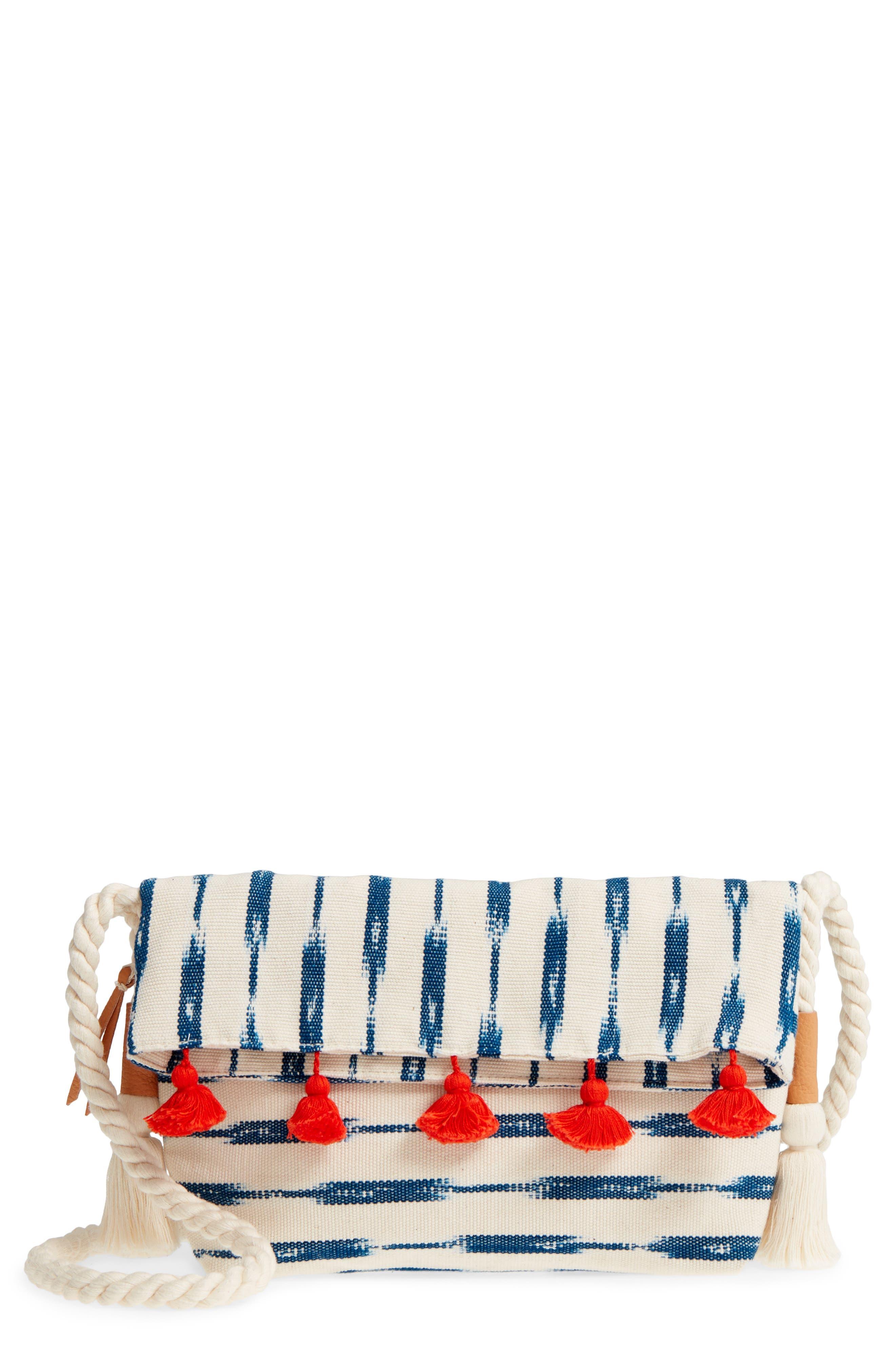 Sandrita Shoulder Bag,                             Main thumbnail 1, color,                             Indigo Jaspe