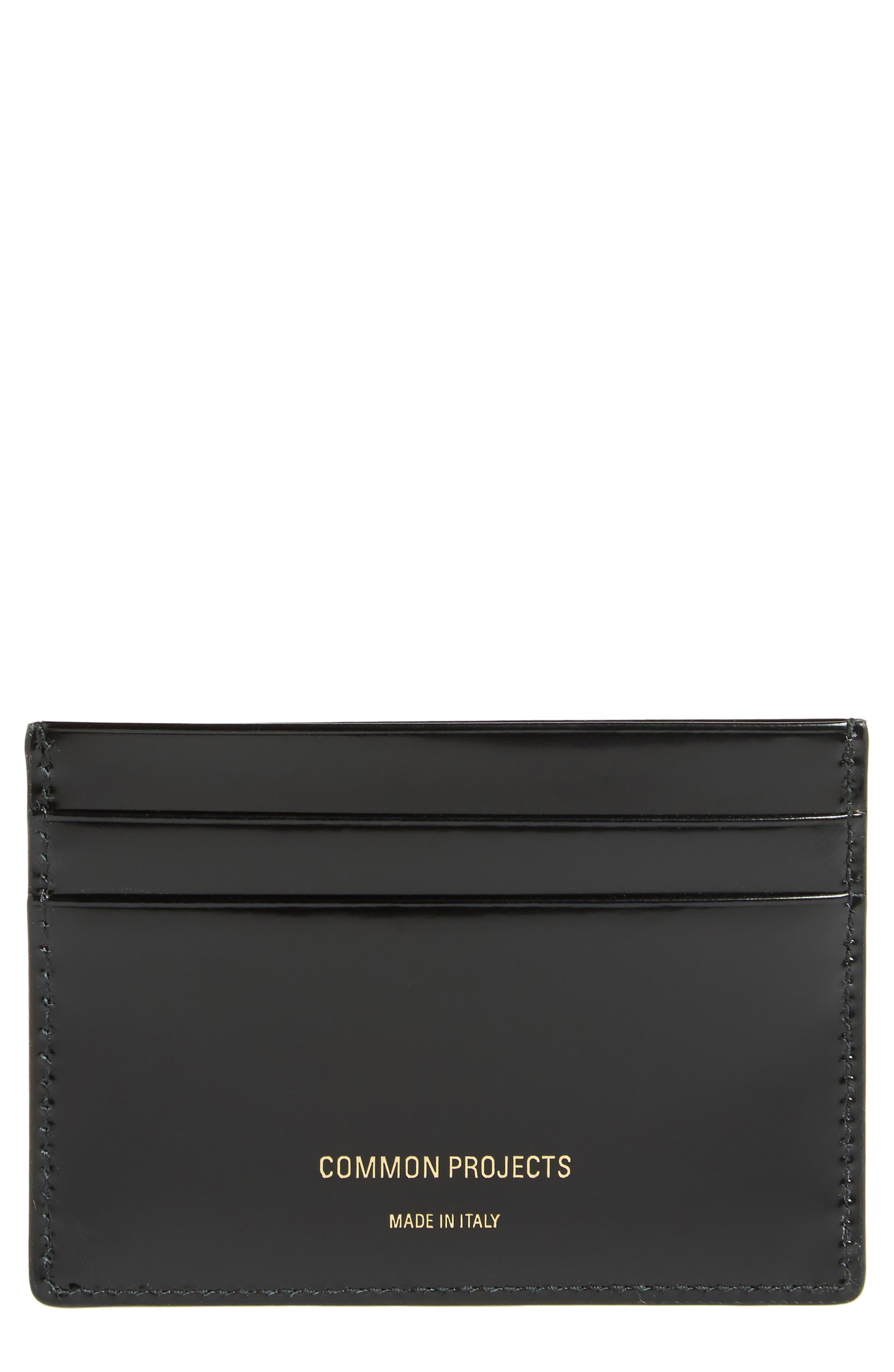 Patent Leather Card Case,                         Main,                         color, 7547 Black