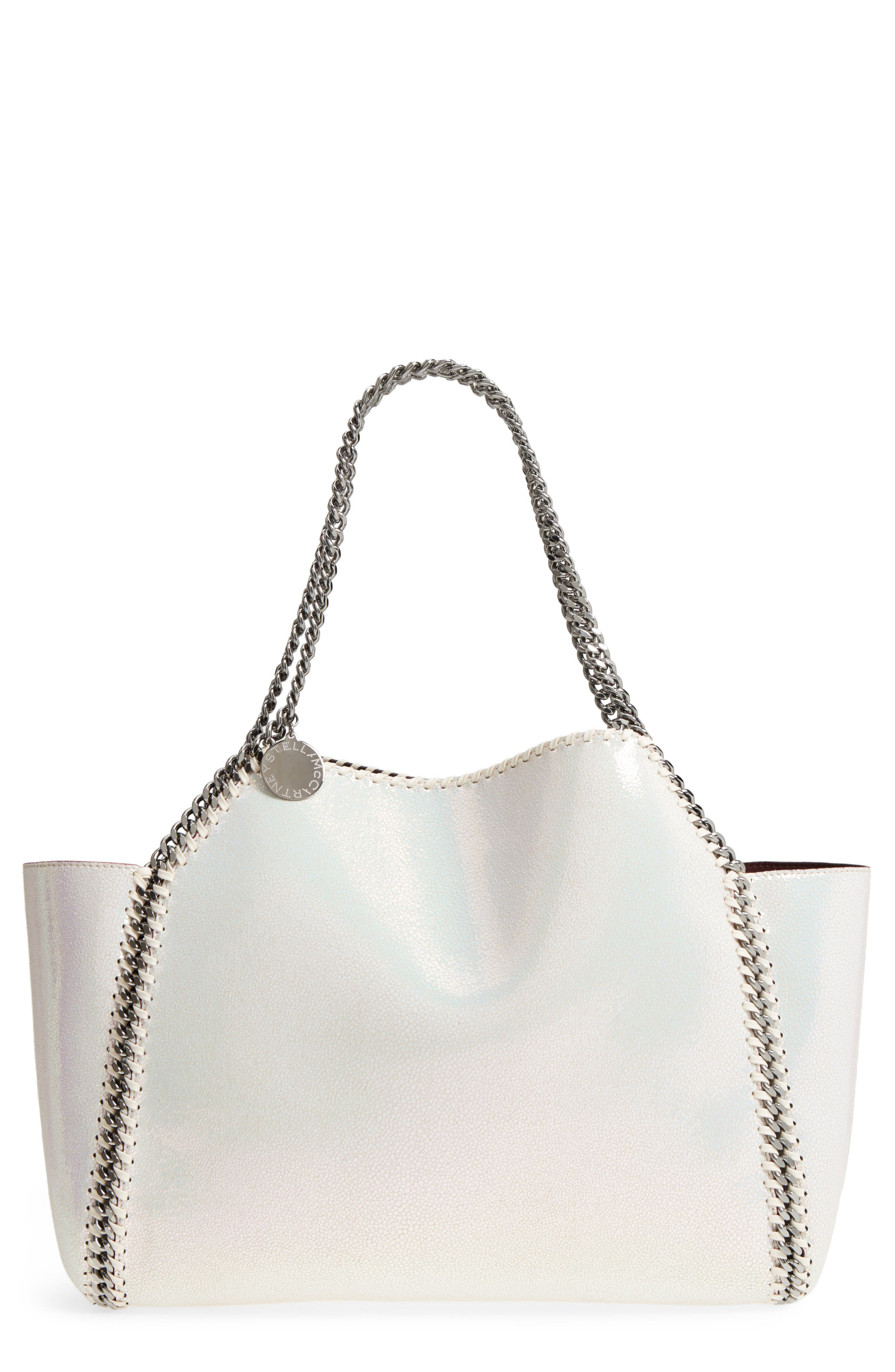 Small Oleo Deer Reversible Faux Leather Tote,                         Main,                         color, Oleo Holographic