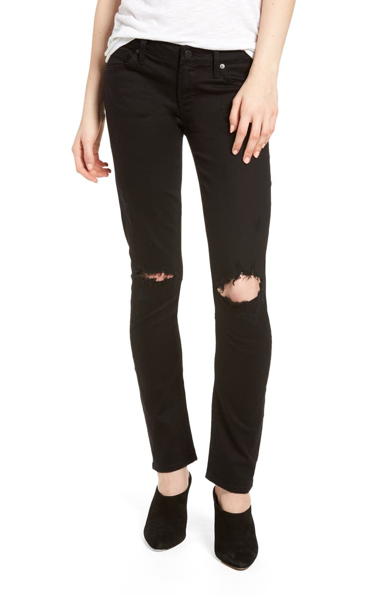 Racer Ripped Skinny Jeans