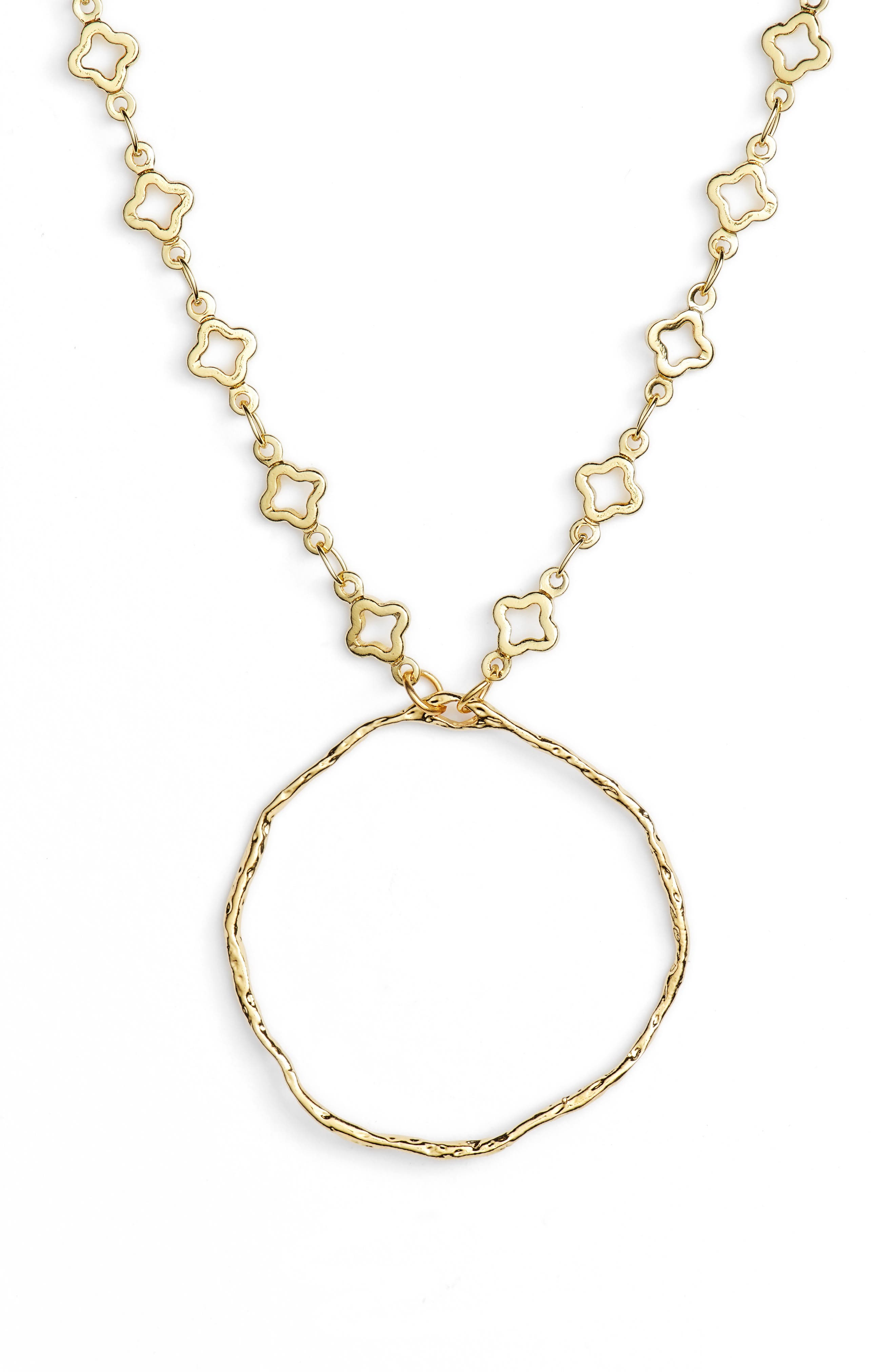 Catalan Hoop Pendant Necklace,                         Main,                         color, Gold