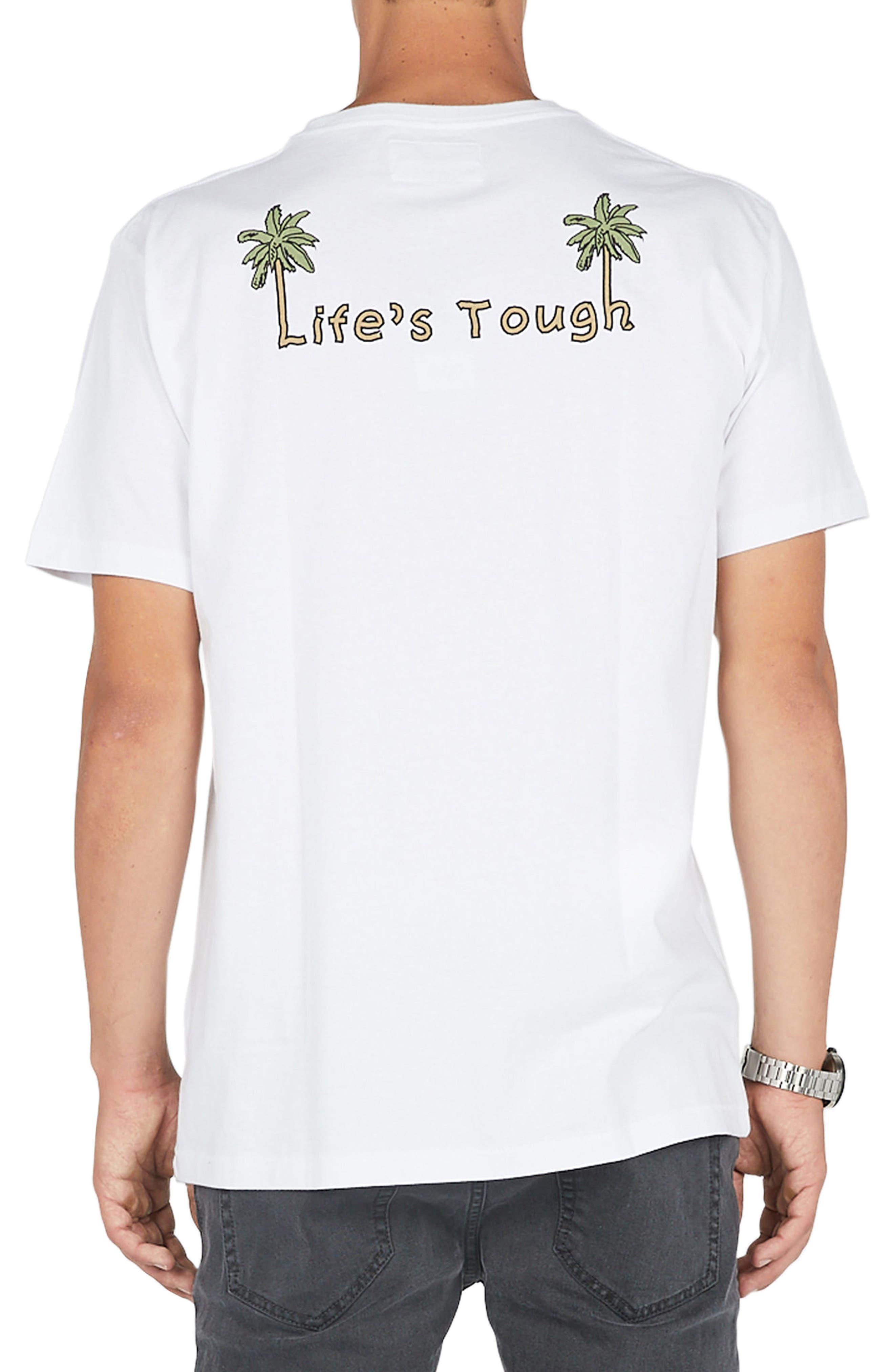 Life's Tough T-Shirt,                             Alternate thumbnail 2, color,                             White
