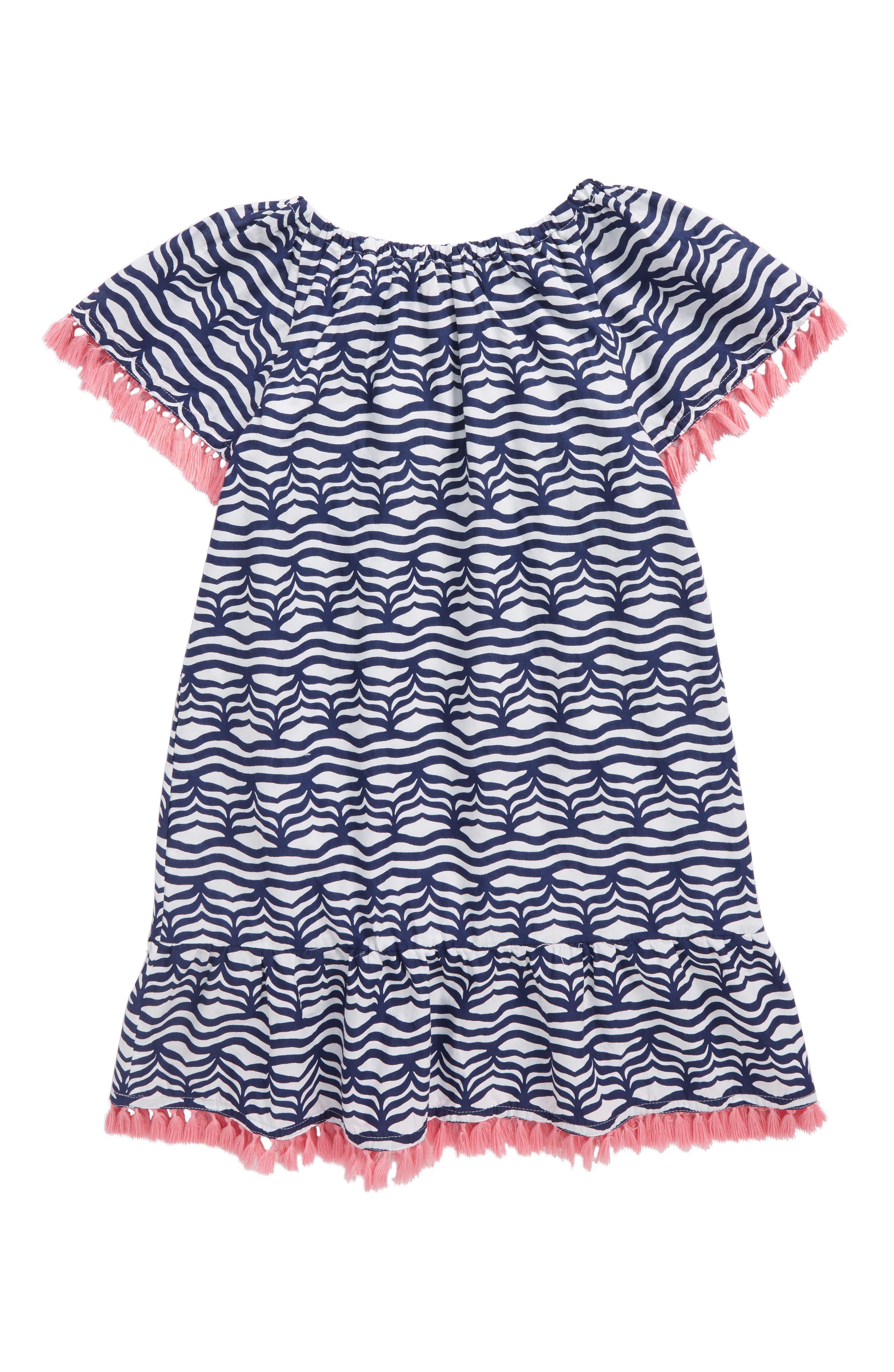 Whale Tail Wave Dress,                             Alternate thumbnail 2, color,                             Deep Bay