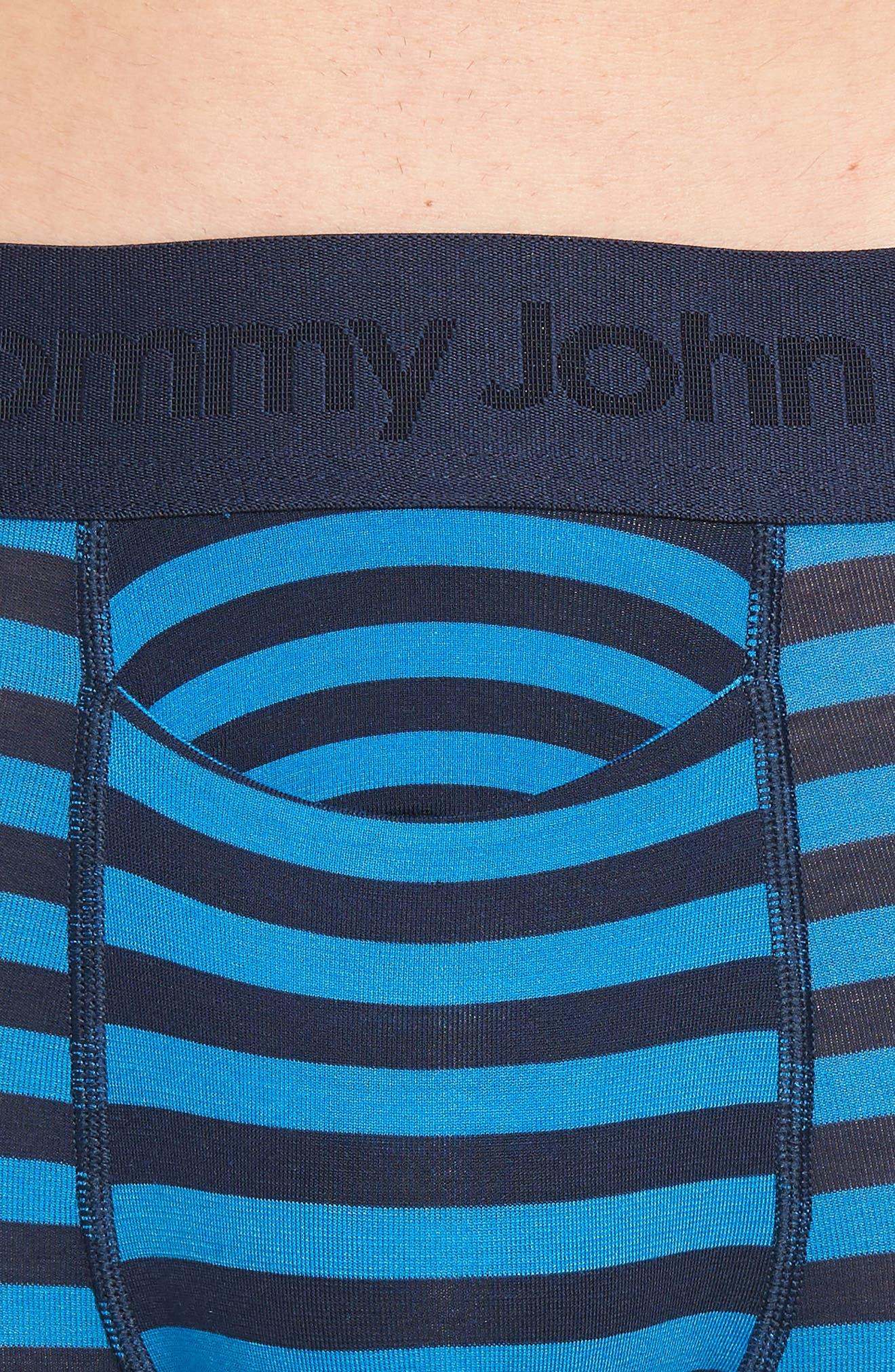 Second Skin Trunks,                             Alternate thumbnail 4, color,                             Dress Blues/ New Blue