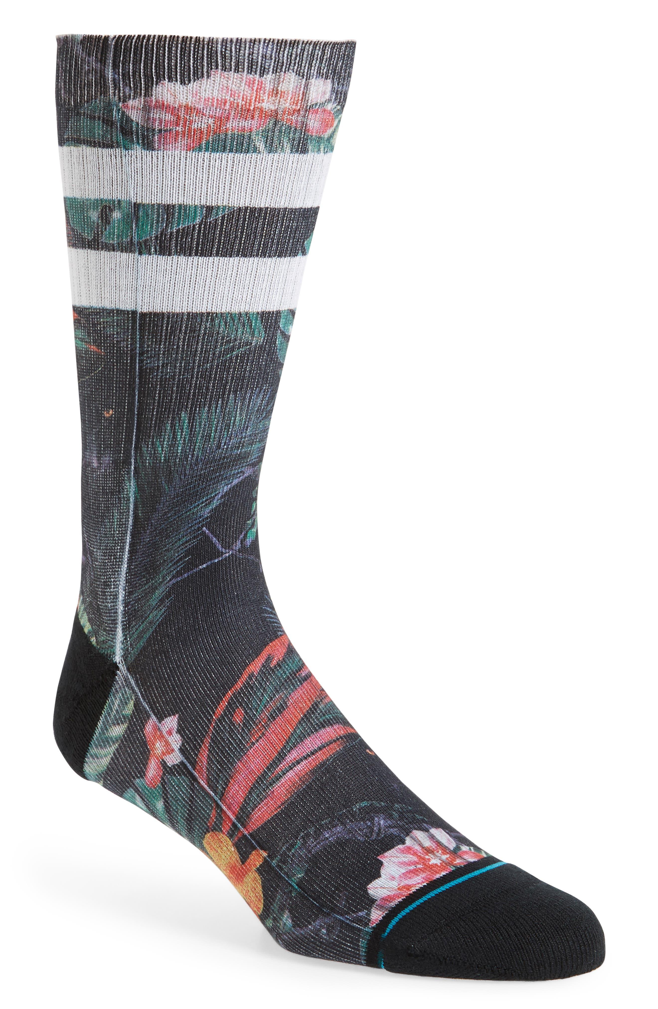 Bagheera Socks,                             Main thumbnail 1, color,                             Black