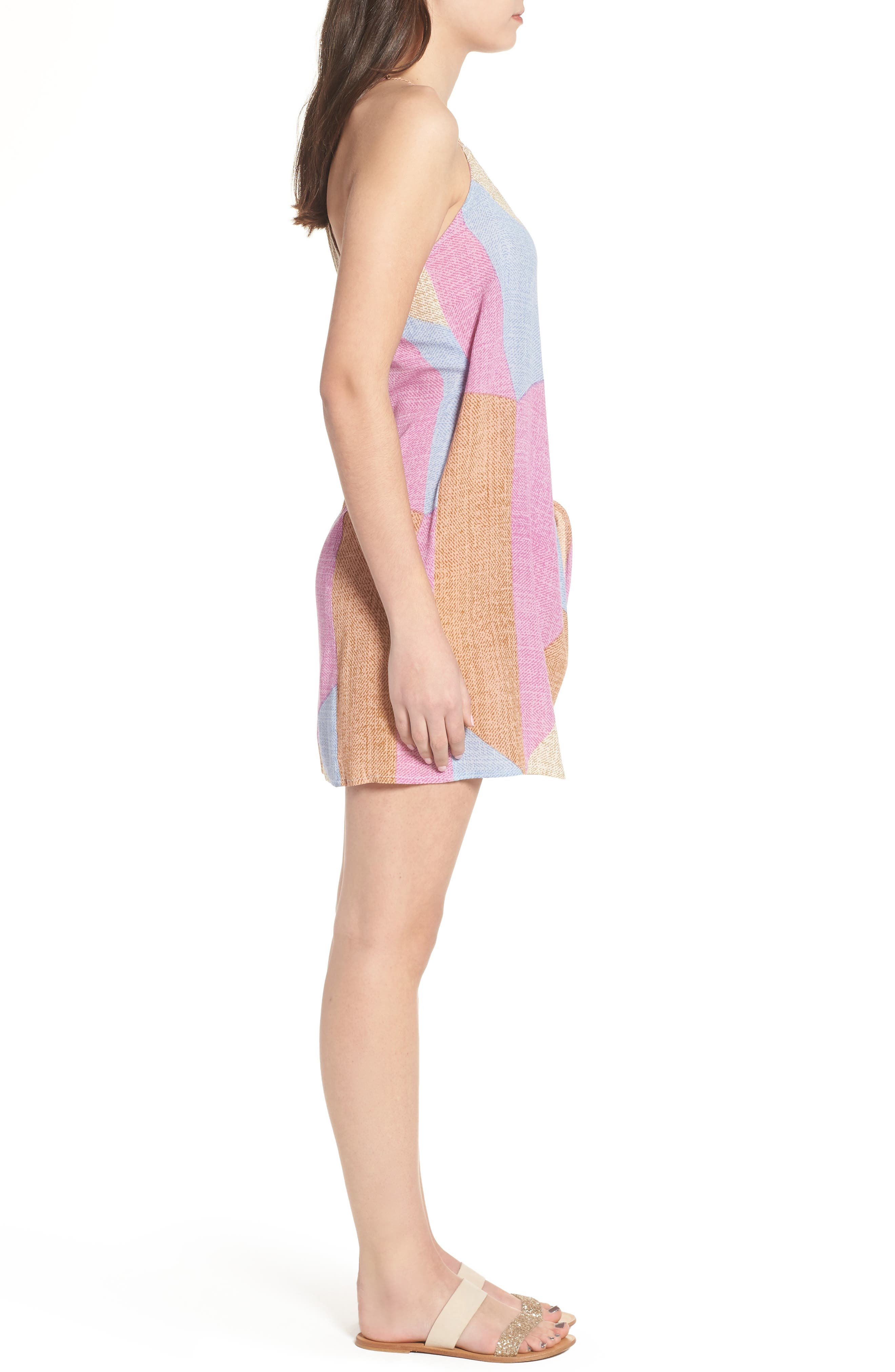 Marlo Wrap Dress,                             Alternate thumbnail 3, color,                             Multi Colored