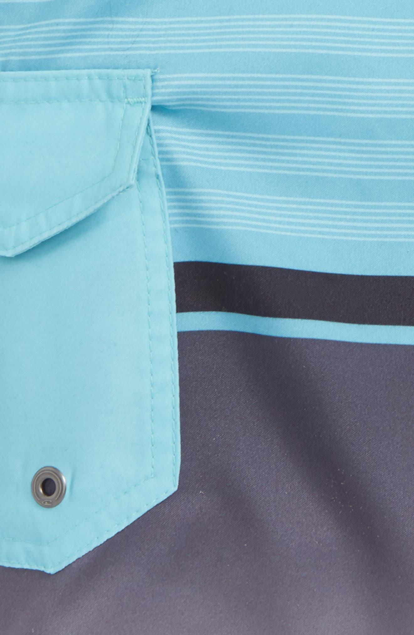 Lennox Stripe Board Shorts,                             Alternate thumbnail 2, color,                             Pool