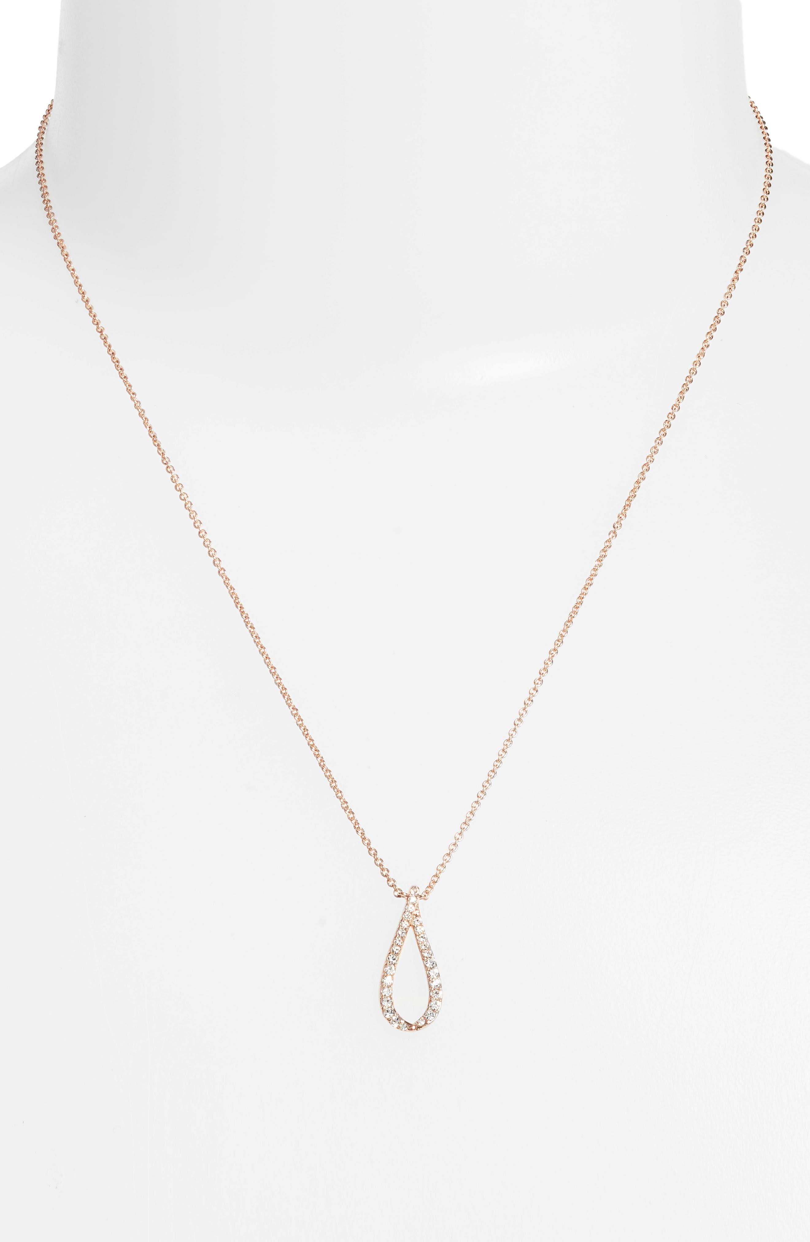 Citron Pendant Necklace,                             Alternate thumbnail 2, color,                             Rose Gold