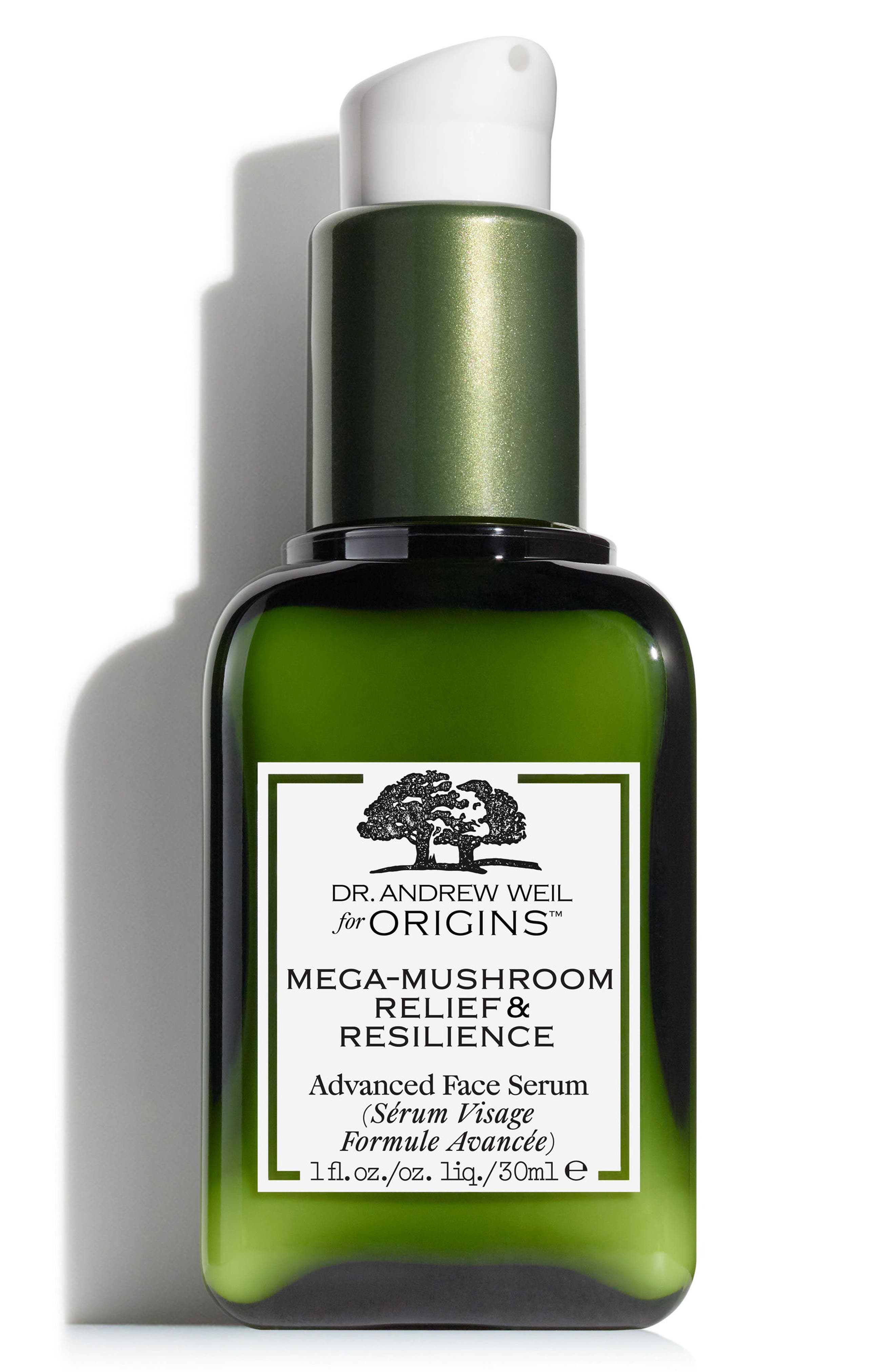 Dr. Andrew Weil for Origins<sup>™</sup> Mega-Mushroom Relief & Resilience Advanced Face Serum,                             Alternate thumbnail 2, color,                             No Color
