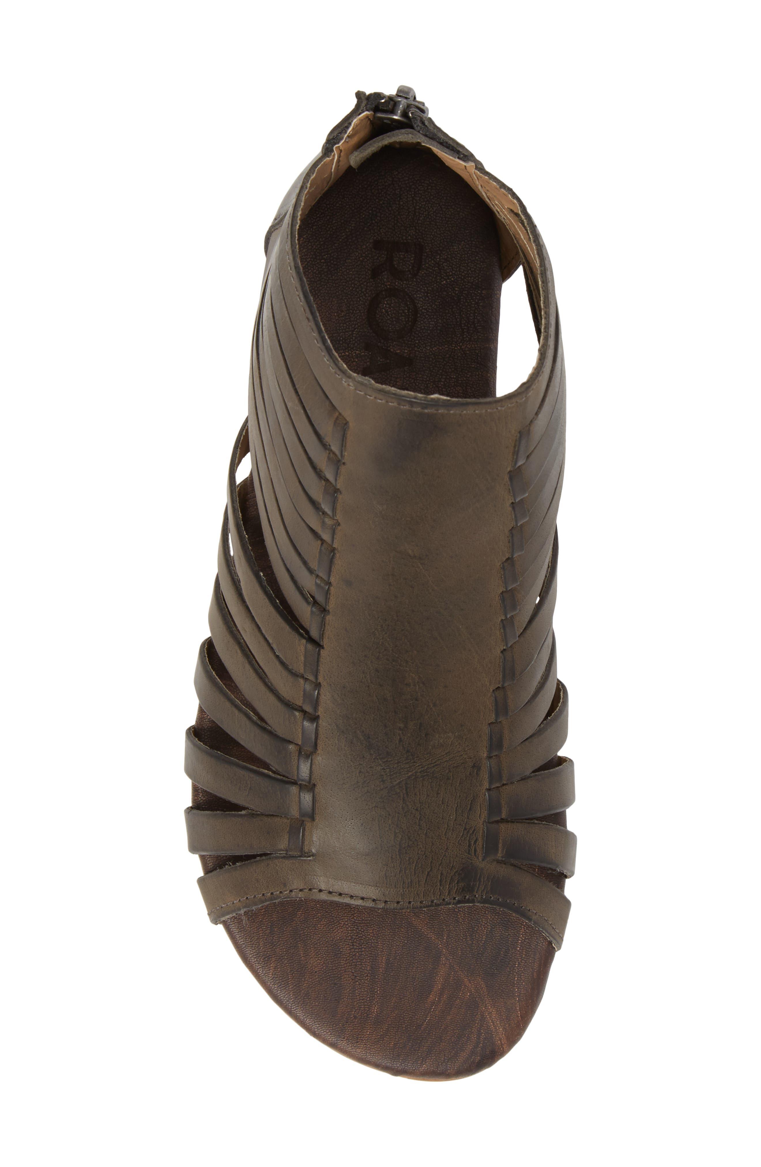 Pearl Gladiator Sandal,                             Alternate thumbnail 5, color,                             Black Greenland