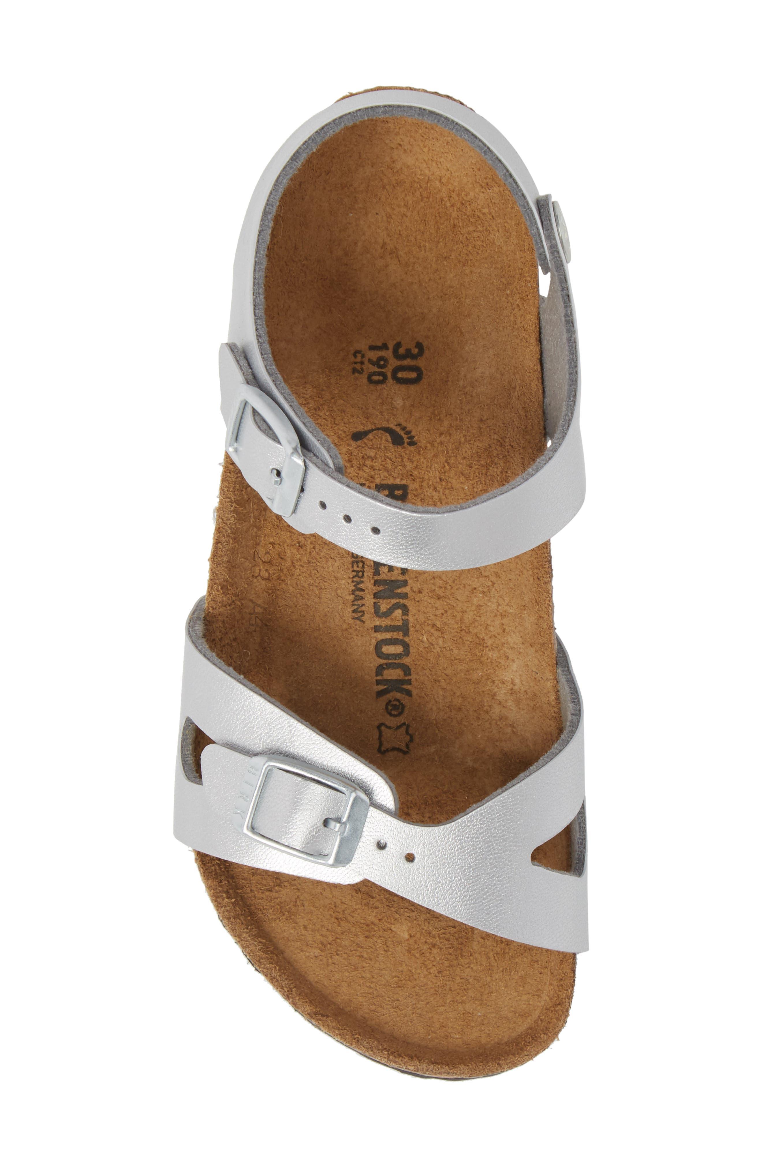 Rio Metallic Sandal,                             Alternate thumbnail 5, color,                             Silver
