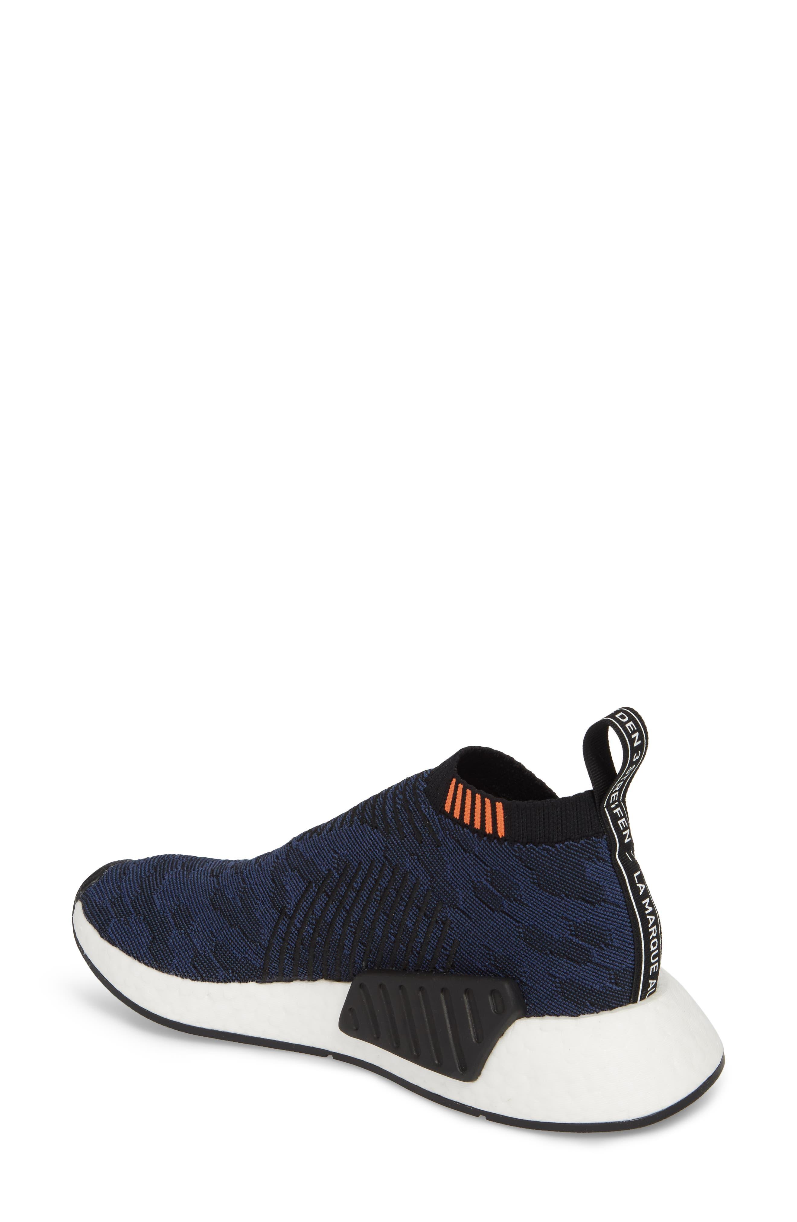 NMD CS2 Primeknit Sneaker,                             Alternate thumbnail 2, color,                             Core Black/ Noble Indigo