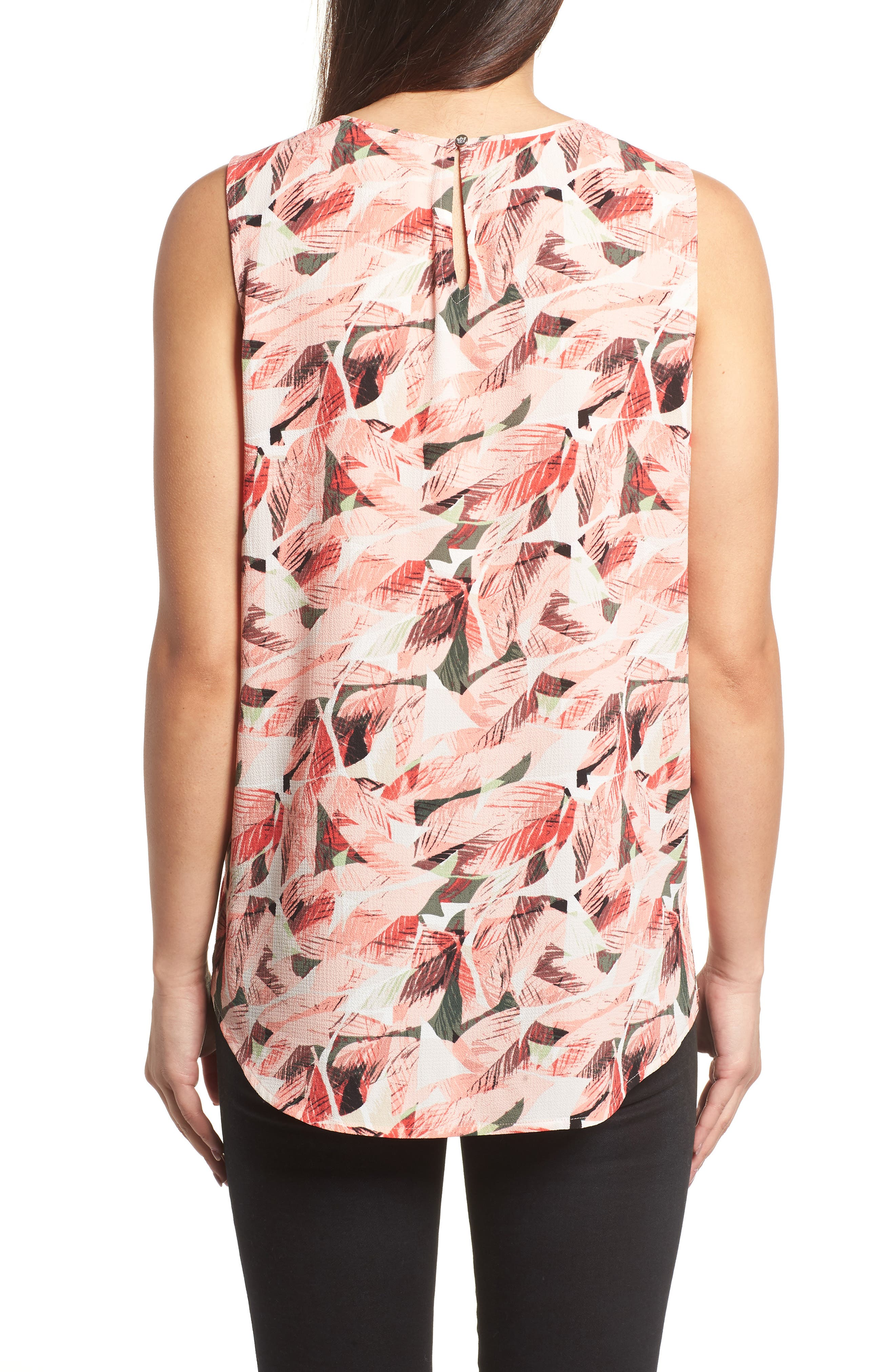 Alternate Image 2  - Chaus Whimsical Tropics Pintuck Top