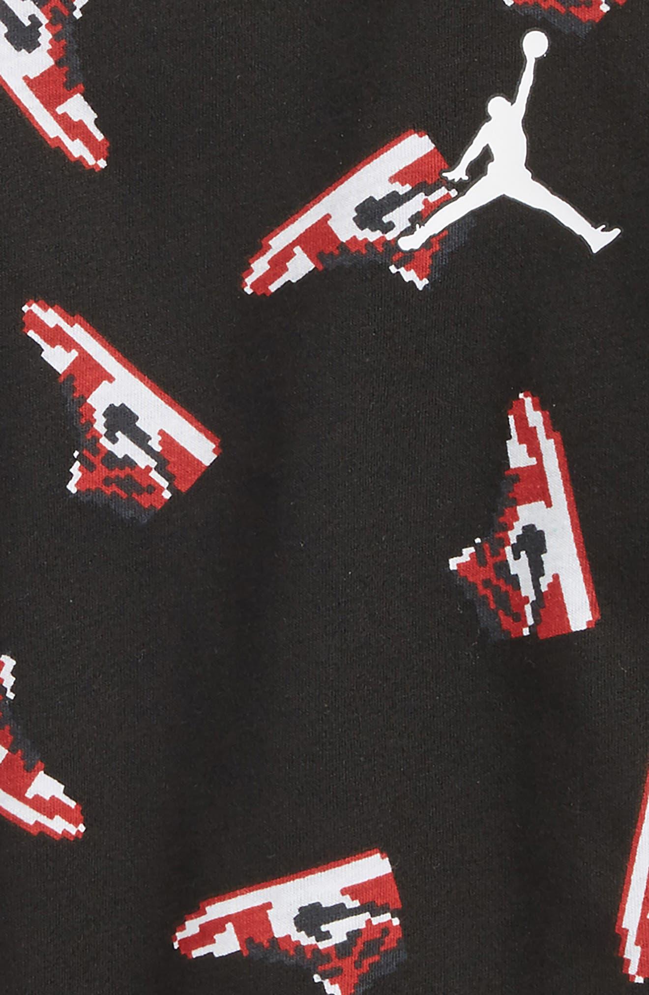 Jordan Pixel Pack AJ 1 Toss T-Shirt,                             Alternate thumbnail 2, color,                             Black