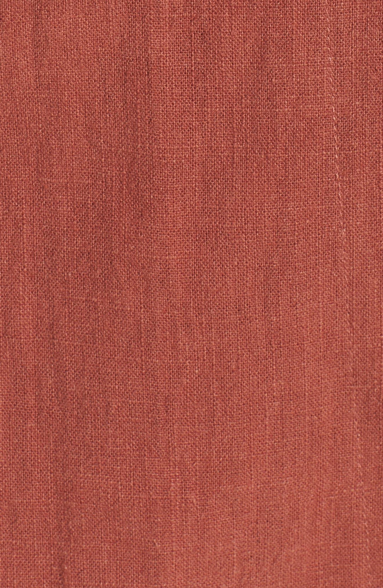 Wrap A-Line Skirt,                             Alternate thumbnail 6, color,                             Rust