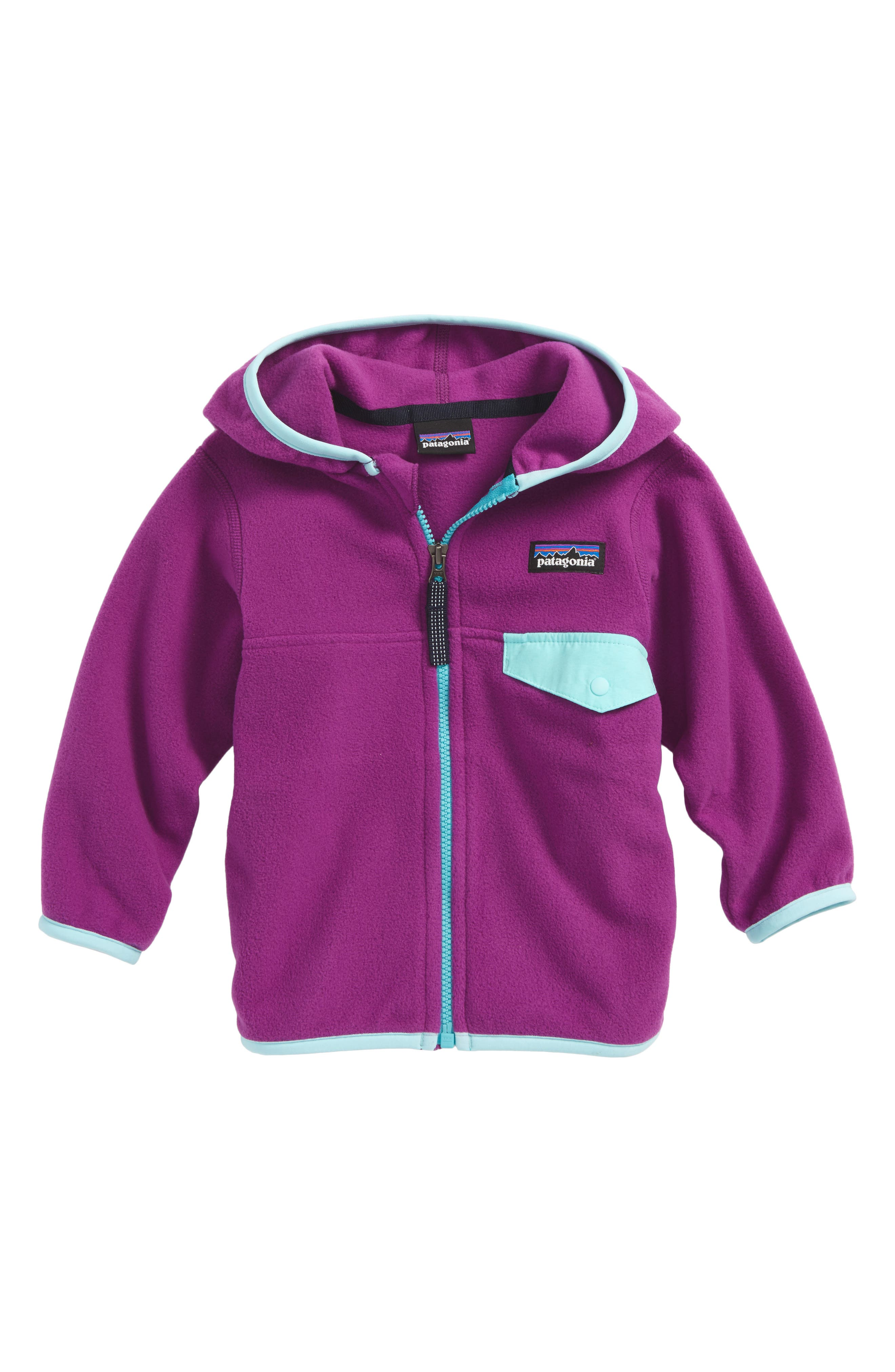 Micro D<sup>®</sup> Snap-T<sup>®</sup> Fleece Jacket,                             Main thumbnail 1, color,                             Ikp Ikat Purple